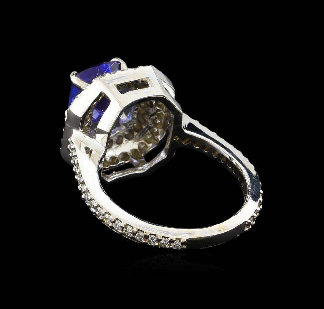 14KT White Gold 2.00 ctw Tanzanite and Diamond Ring - 3