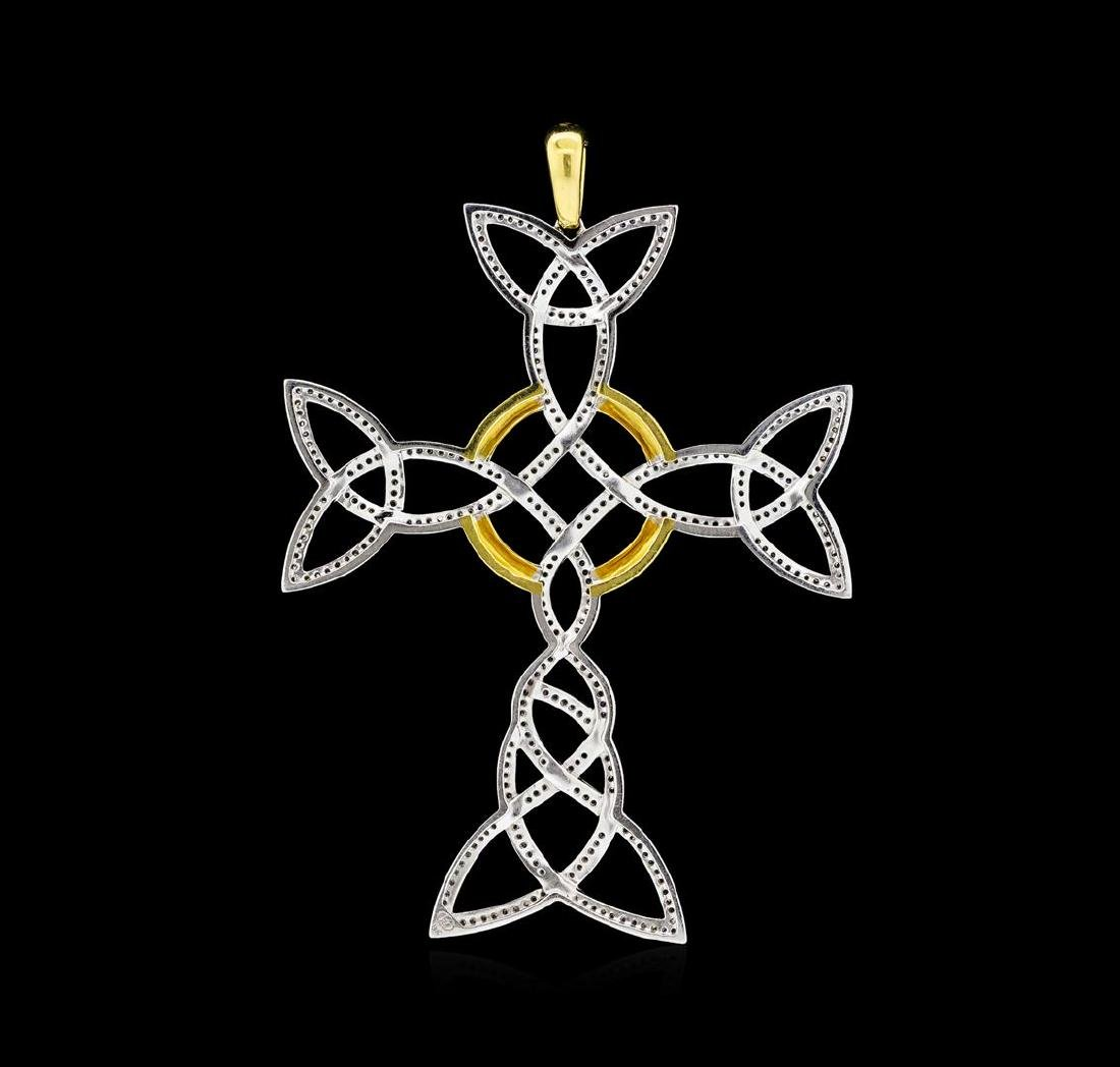 1.58 ctw Diamond Pendant - 18KT Yellow And White Gold - 2