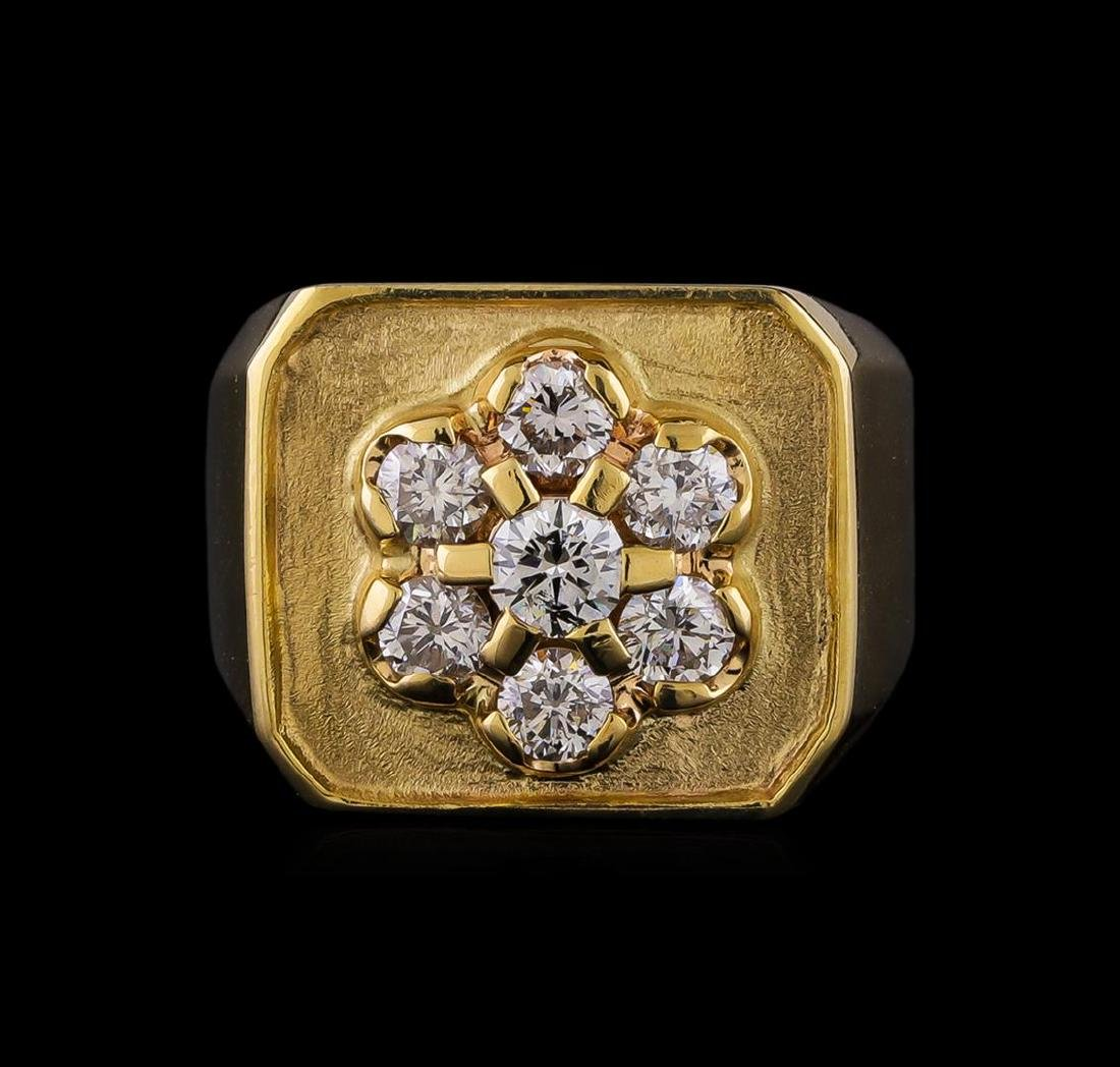 1.50 ctw Diamond Ring - 14KT Yellow Gold - 2