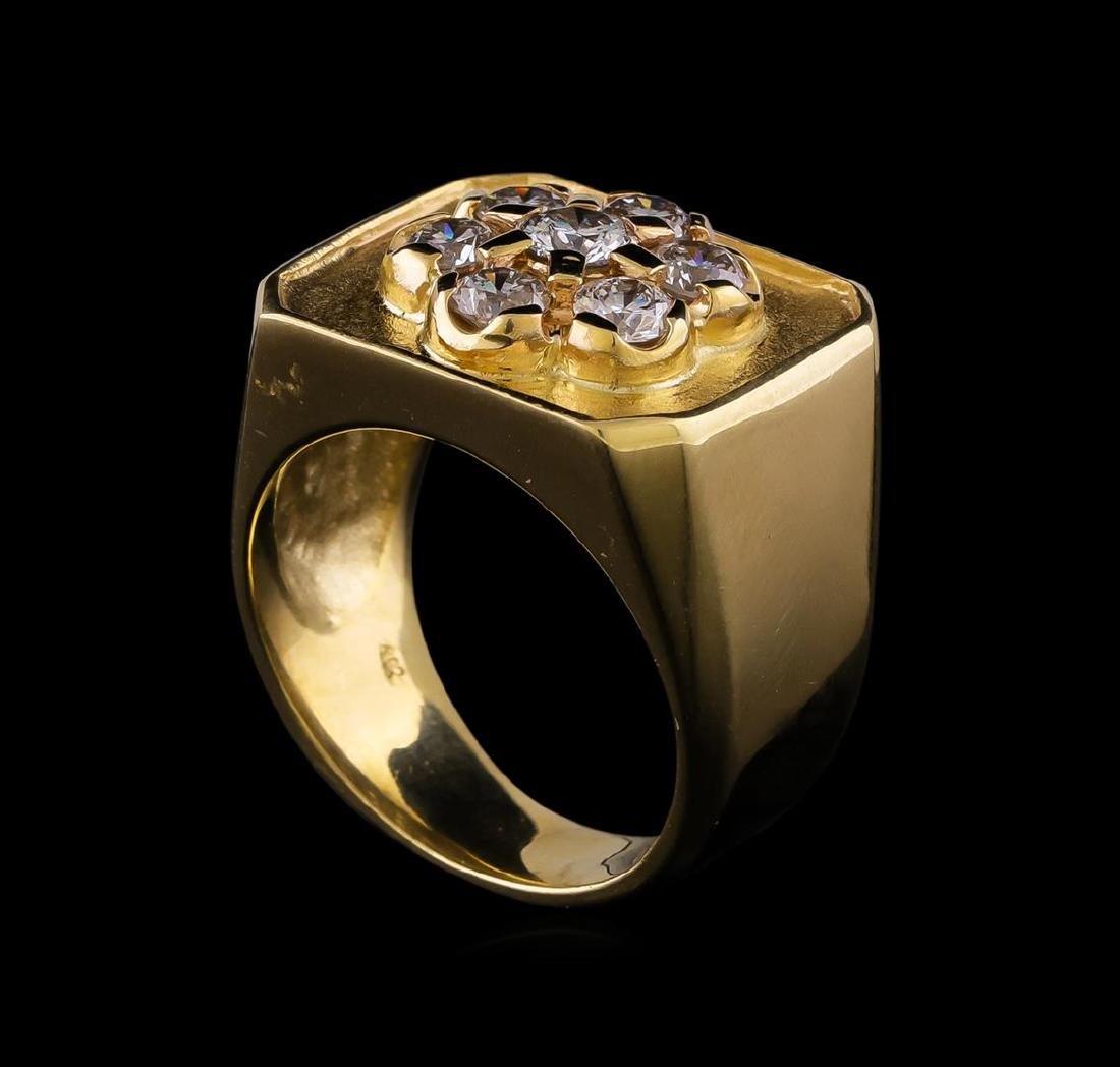 1.50 ctw Diamond Ring - 14KT Yellow Gold - 4