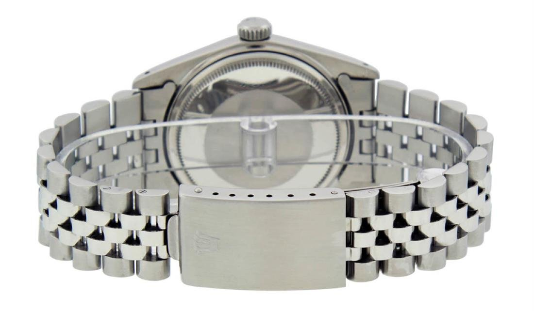 Rolex Mens Stainless Steel Black Roman Datejust 36MM - 7