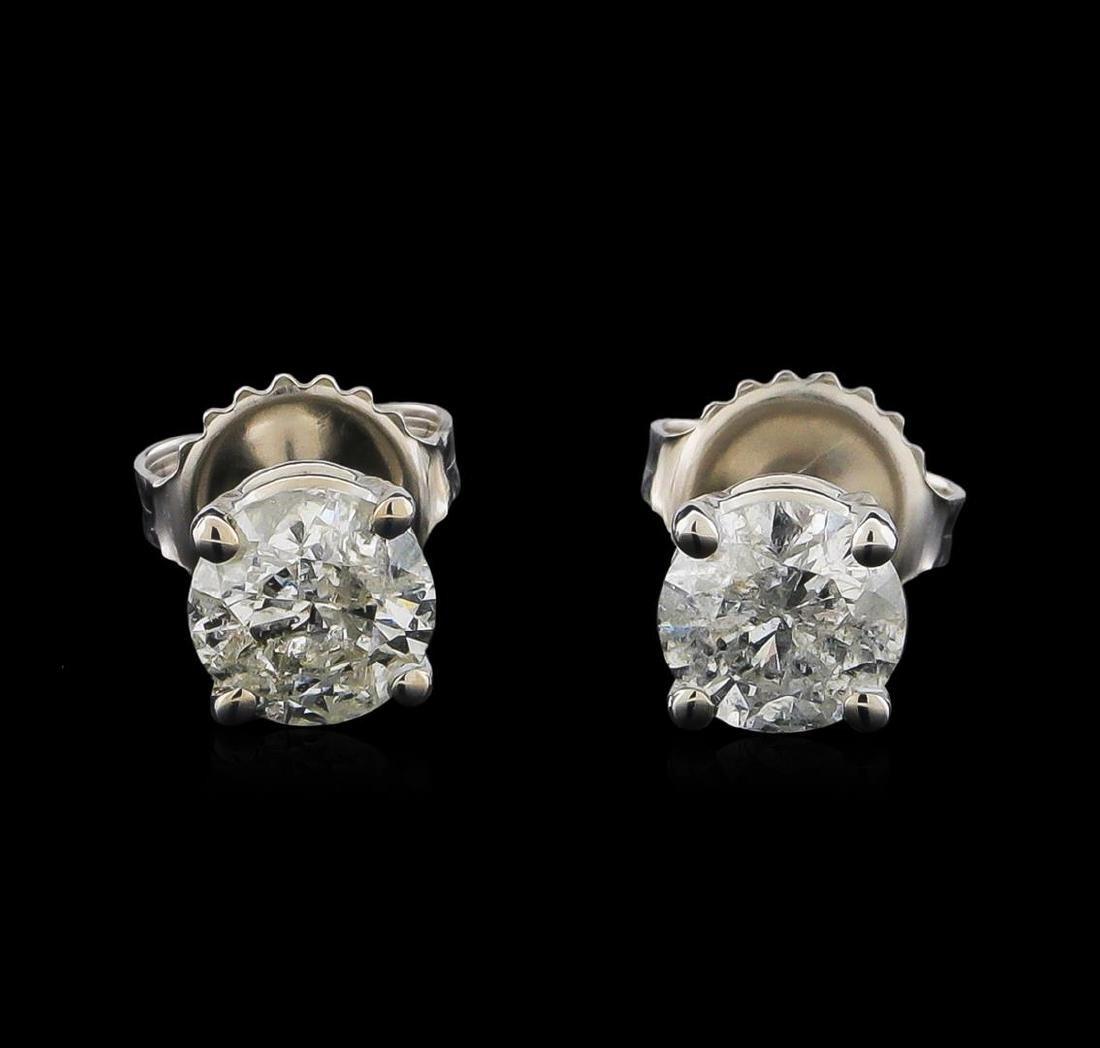 14KT White Gold 1.35 ctw Diamond Stud Earrings