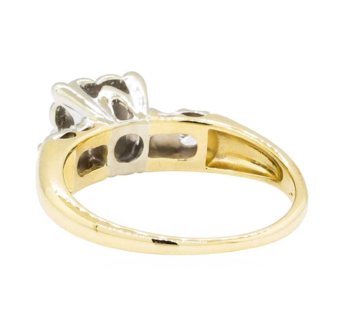 0.30 ctw Diamond Ring - 14KT Yellow and White Gold - 3