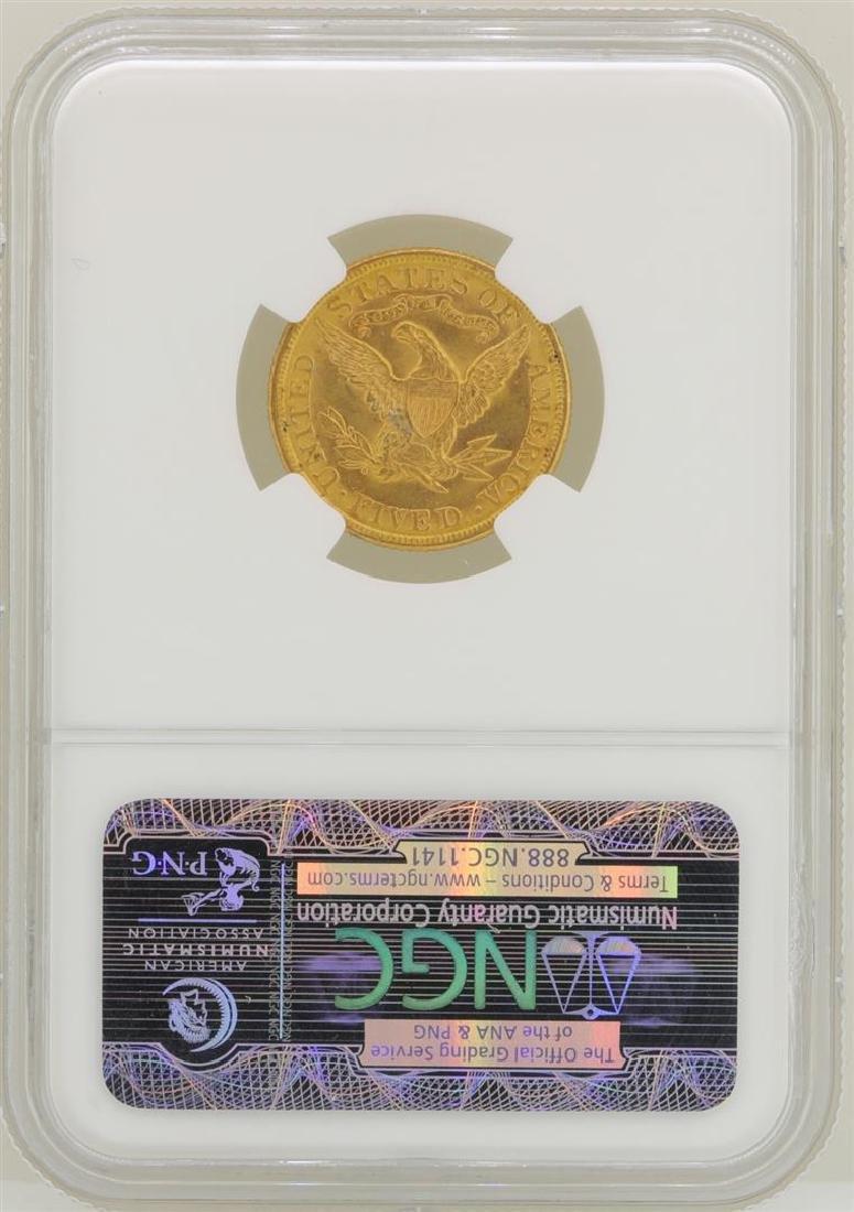 1881 $5 Liberty Head Half Eagle Gold Coin NGC MS62 - 2