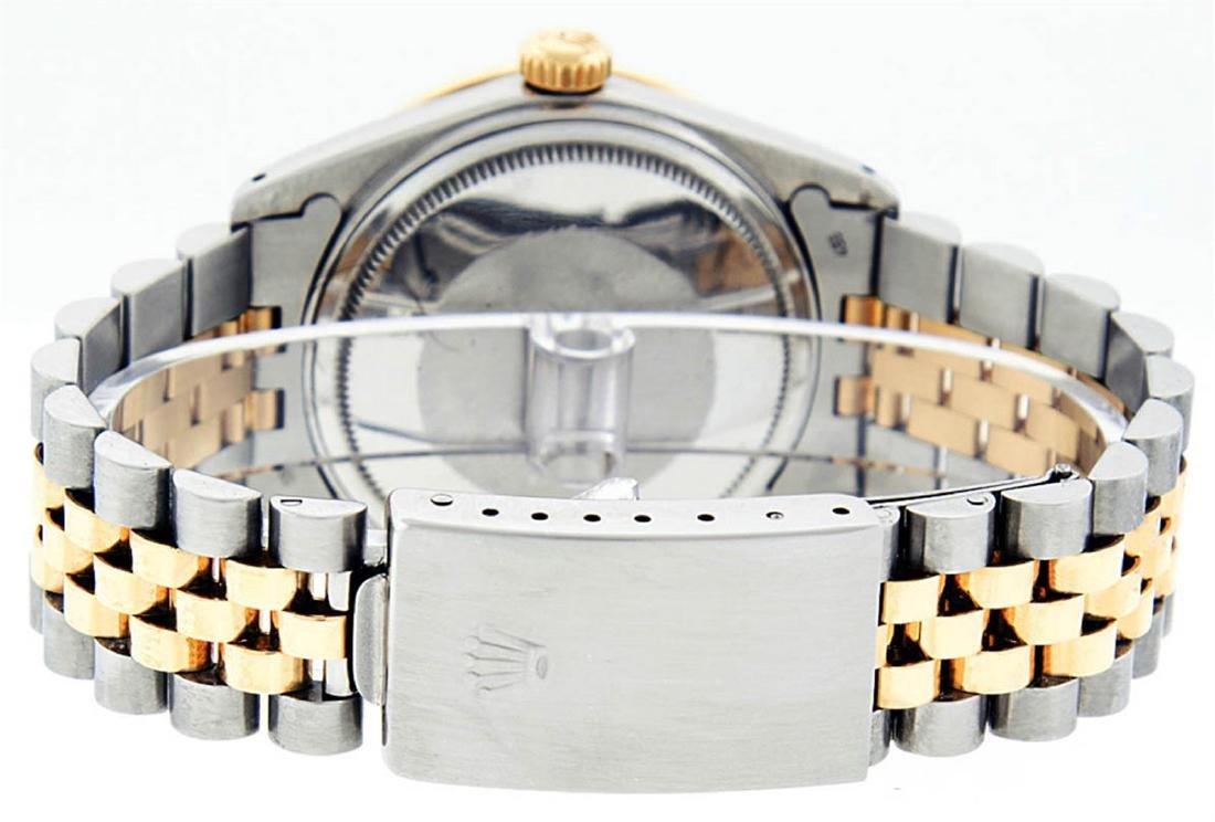 Rolex Mens 2 Tone 14K MOP Sapphire Diamond Channel Set - 3