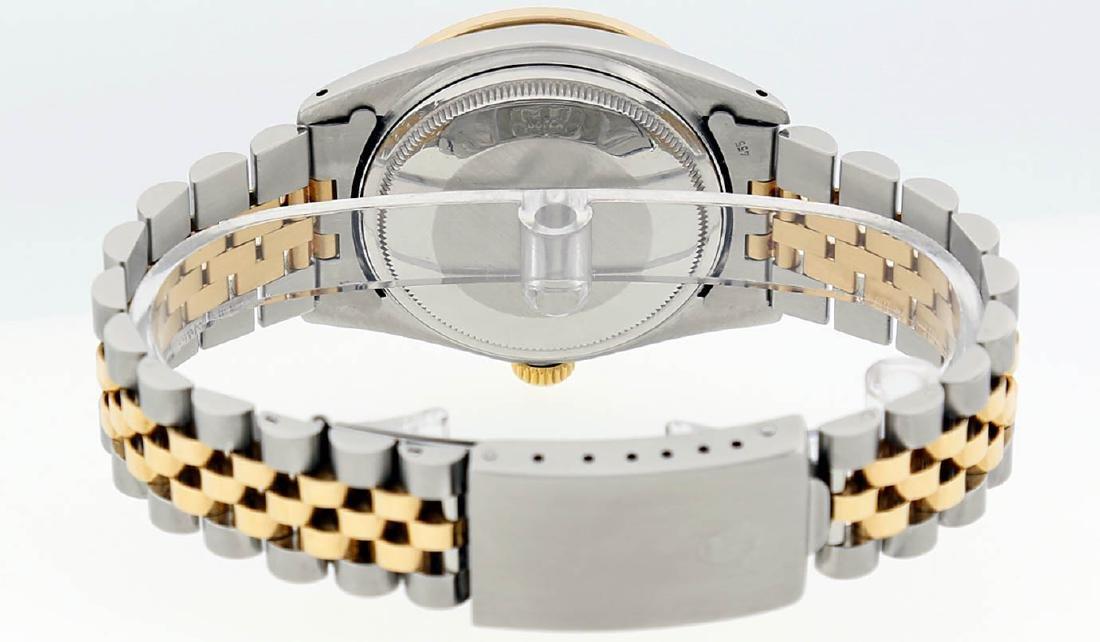 Rolex Mens 2 Tone 14K MOP Sapphire Diamond Channel Set - 6