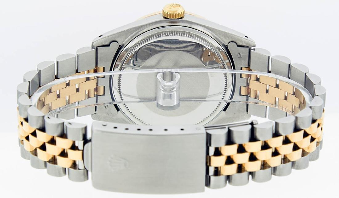 Rolex Mens 2 Tone 14K MOP Sapphire Diamond Channel Set - 7