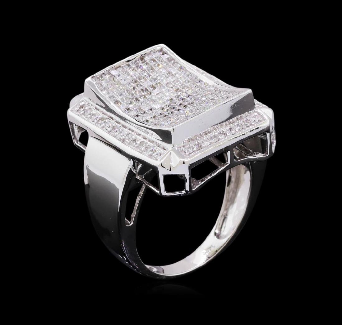 14KT White Gold 1.81 ctw Diamond Ring - 4
