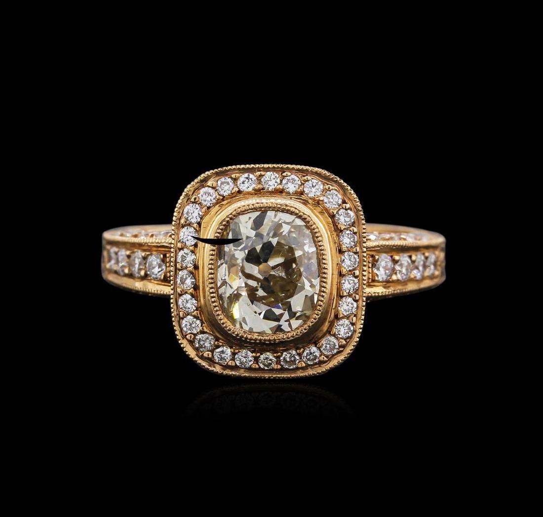 18KT Rose Gold 1.83 ctw Diamond Ring - 2