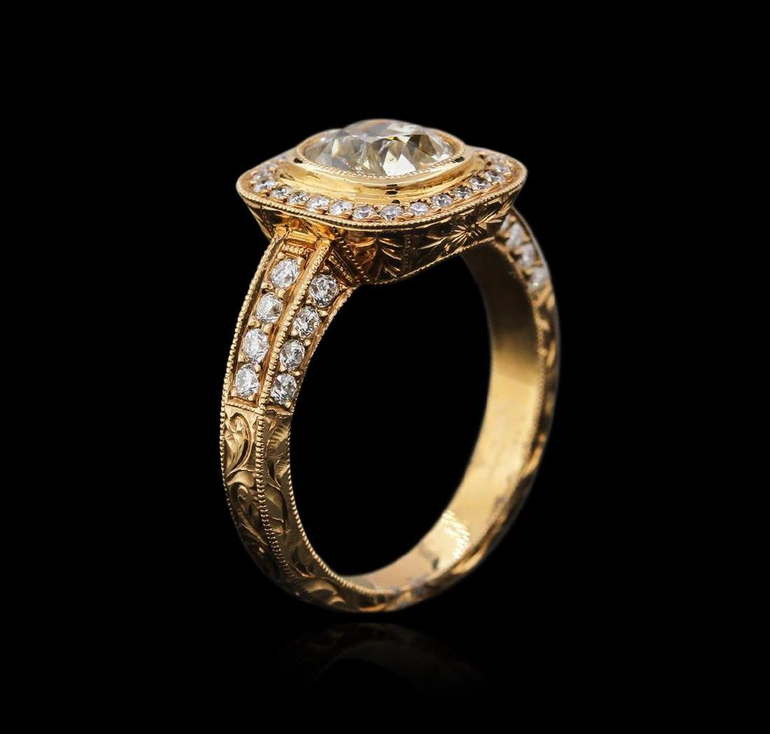 18KT Rose Gold 1.83 ctw Diamond Ring - 3
