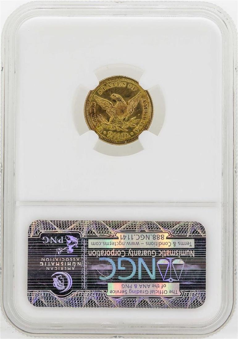 1907 $2 1/2 Liberty Head Quarter Eagle Gold Coin NGC - 2