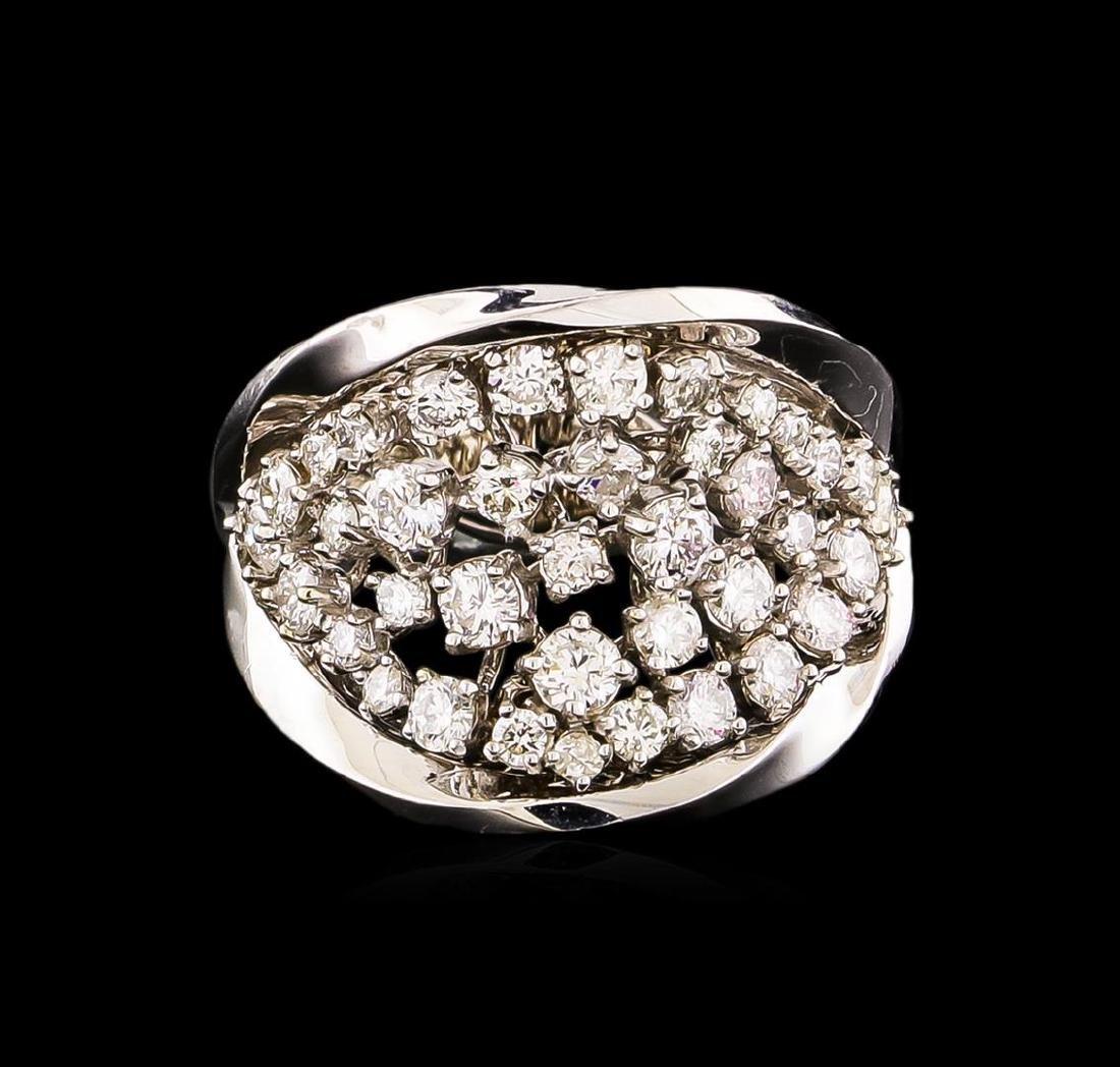 14KT White Gold 1.40 ctw Diamond Ring - 2