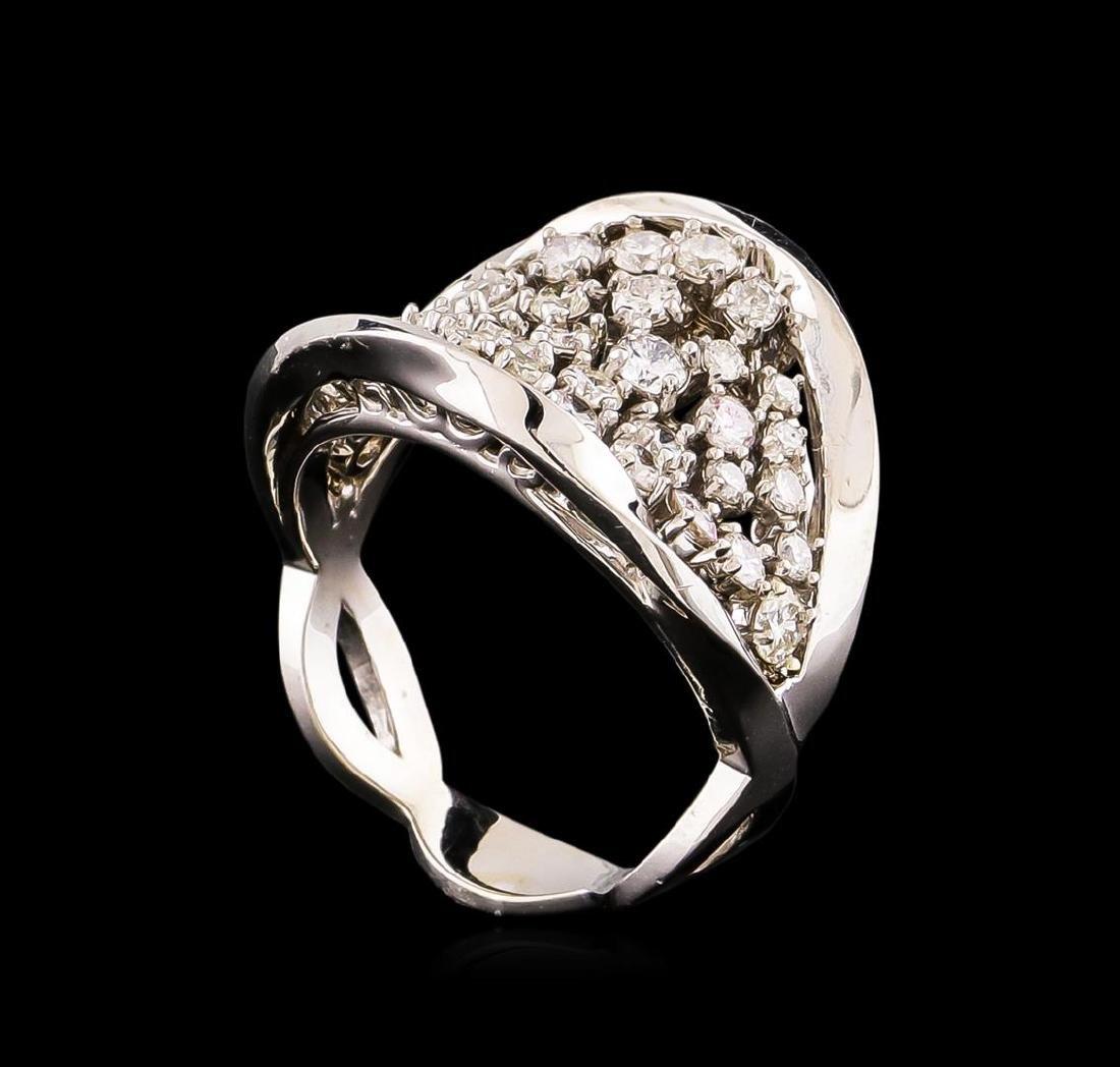 14KT White Gold 1.40 ctw Diamond Ring - 4