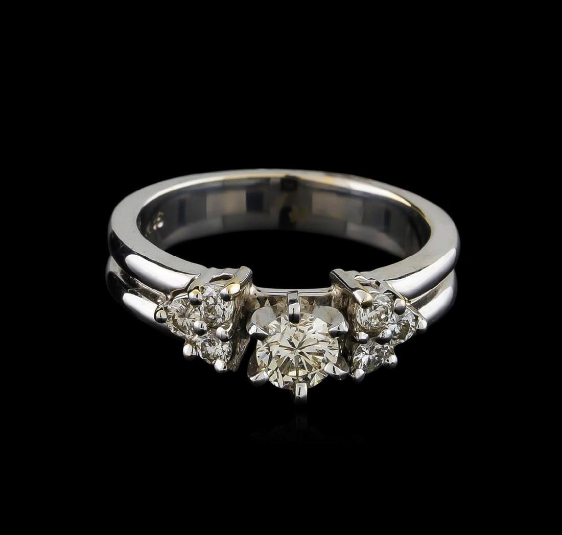 0.74 ctw Diamond Ring - 18KT White Gold - 2