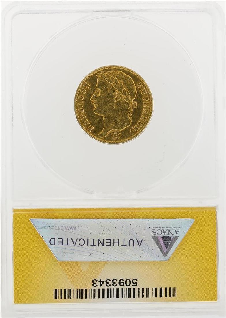 1813-A 20 Francs Gold Coin ANACS EF45 - 2