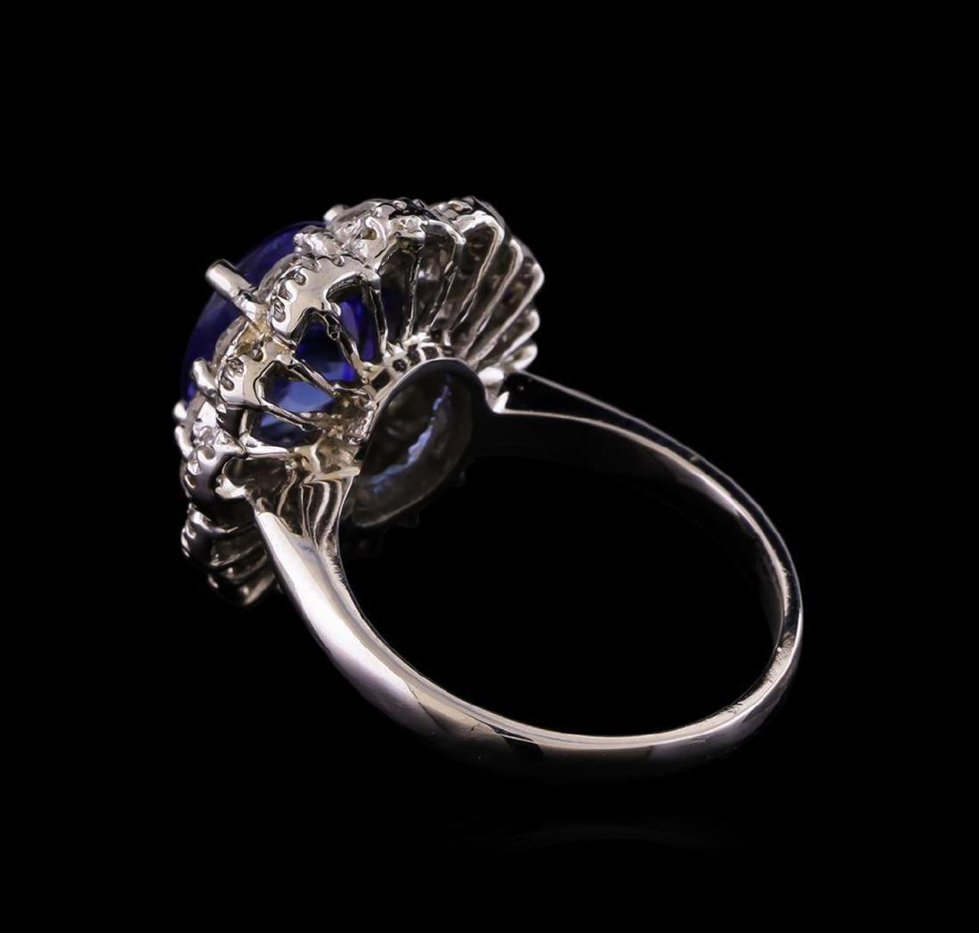 14KT White Gold 3.15 ctw Tanzanite and Diamond Ring - 3