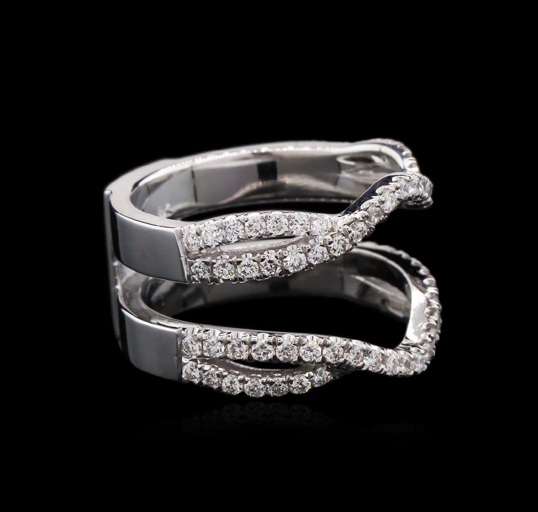 0.74 ctw Diamond Wedding Ring Guard - 18KT White Gold - 2