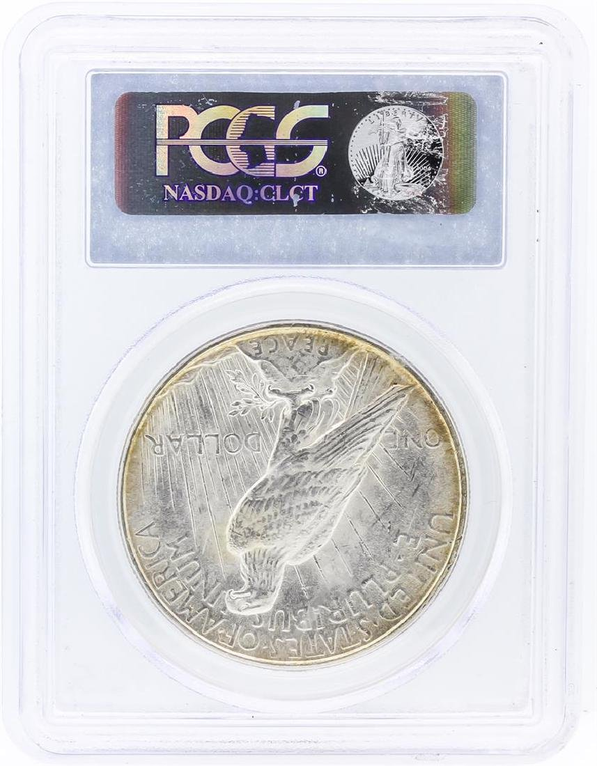 1922 PCGS MS63 Peace Silver Dollar - 2