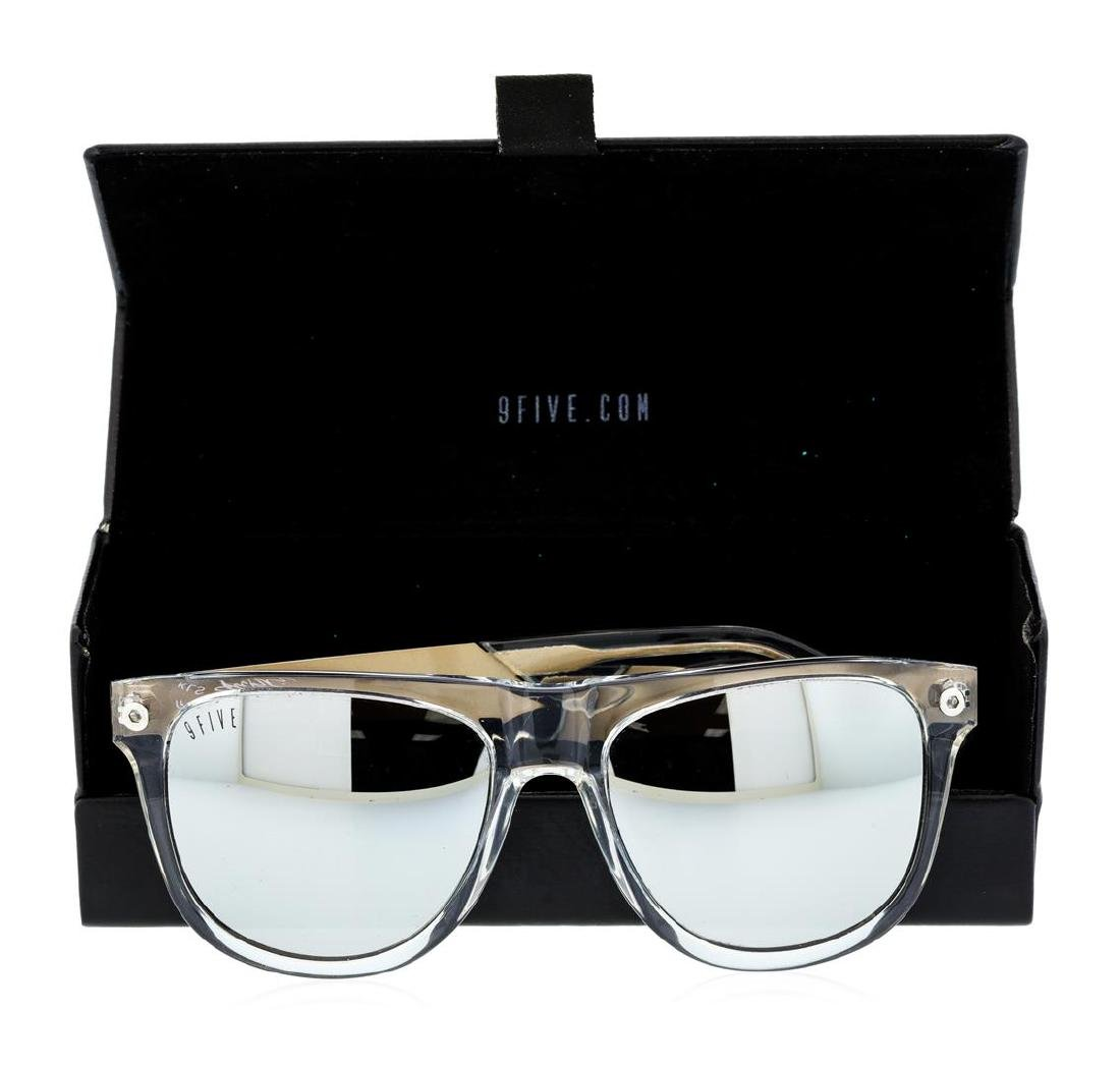 Stainless Steel 9-Five Sunglasses With Custom Diamond