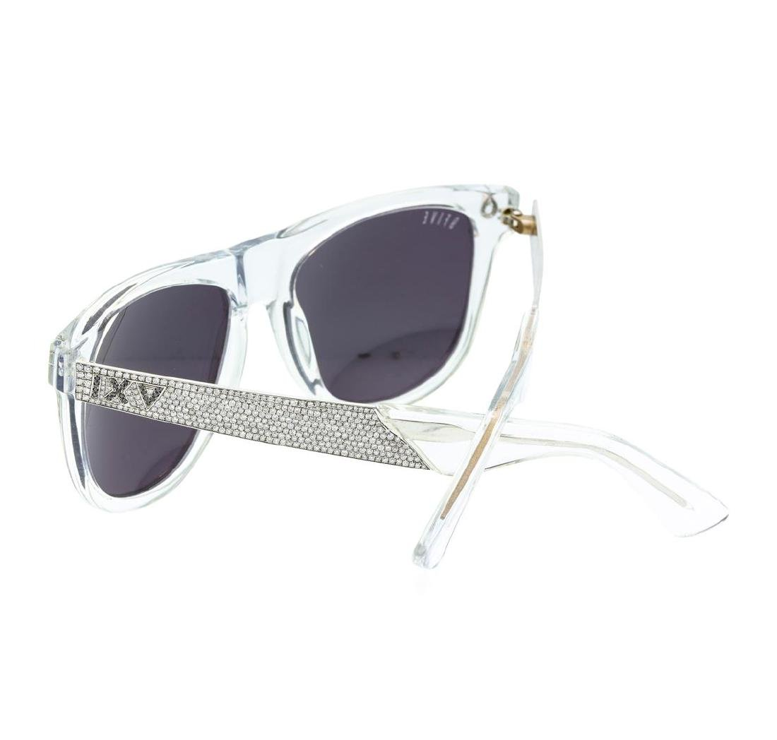 Stainless Steel 9-Five Sunglasses With Custom Diamond - 2