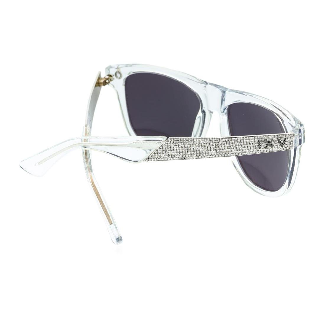 Stainless Steel 9-Five Sunglasses With Custom Diamond - 3