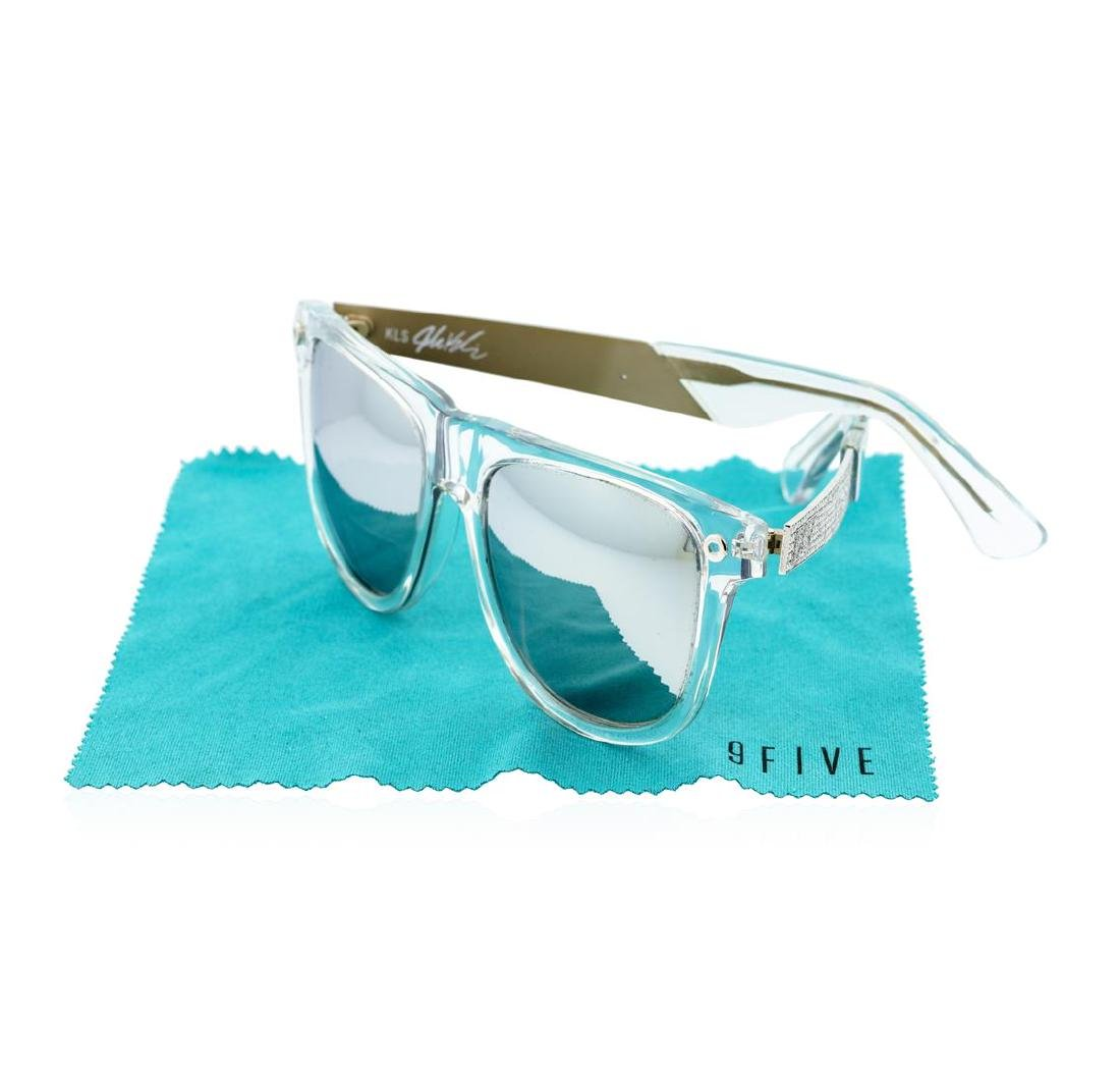 Stainless Steel 9-Five Sunglasses With Custom Diamond - 5