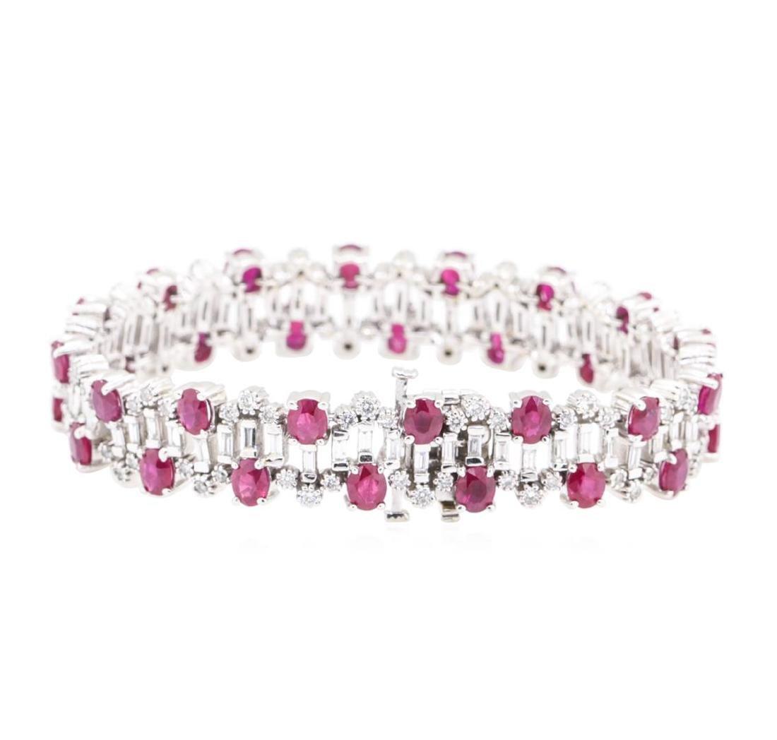 15.96 ctw Colored Stone And Diamond Bracelet - 14KT - 2