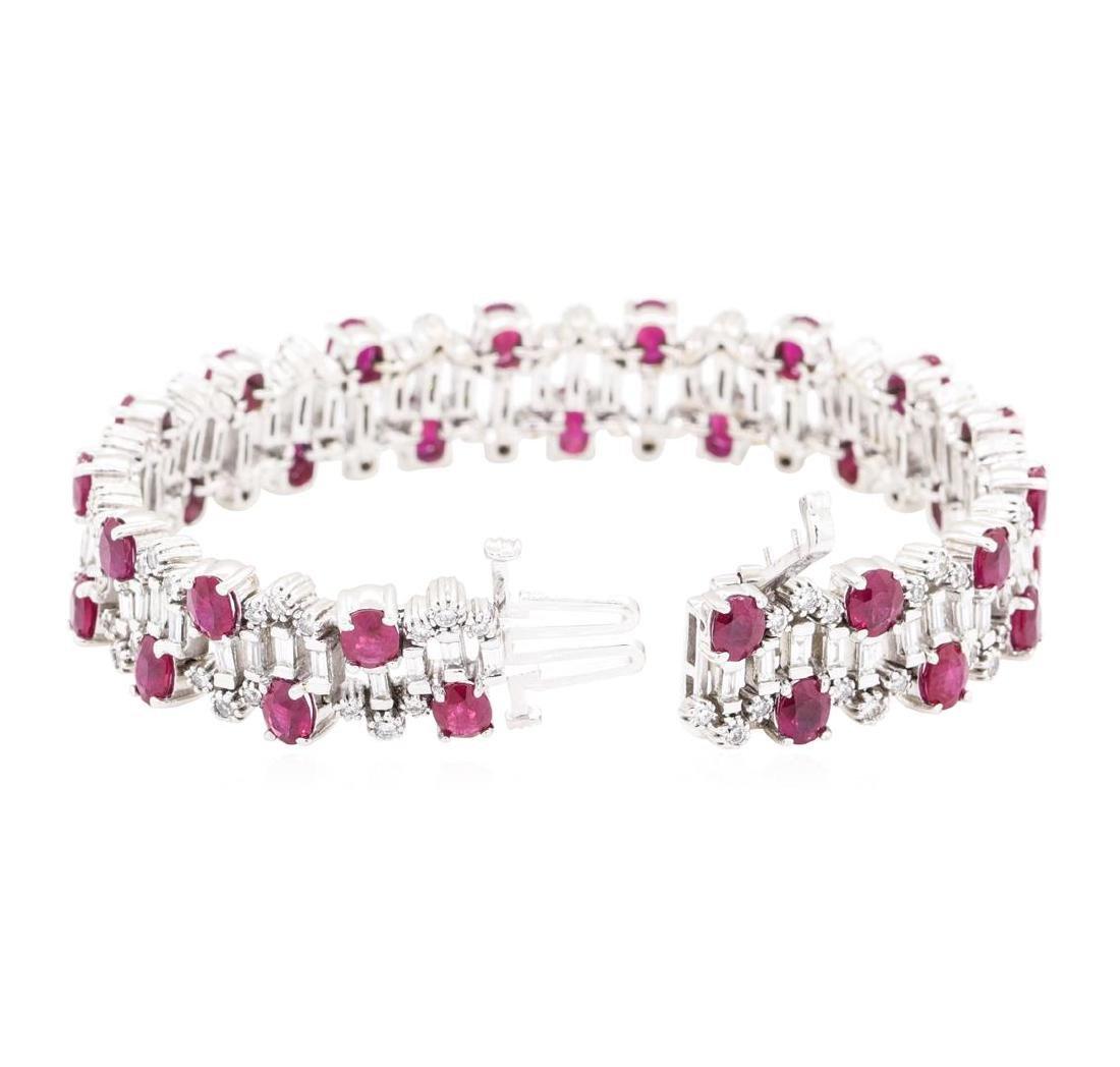 15.96 ctw Colored Stone And Diamond Bracelet - 14KT - 3