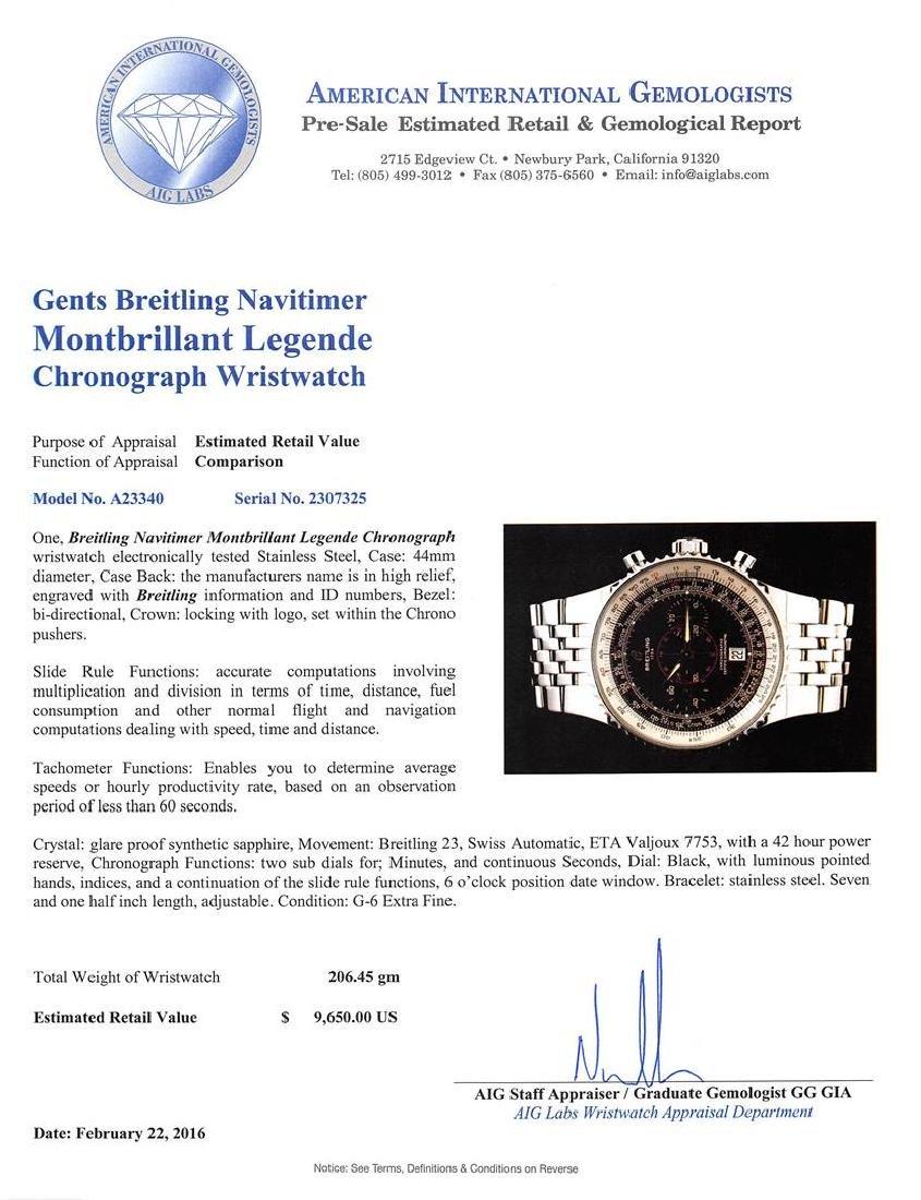 Breitling Stainless Steel Montbrilliant Legende - 5