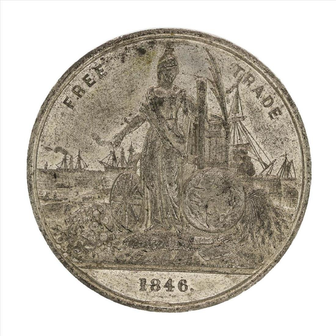 1846 Free Trade Anti-Corn Law League Medal