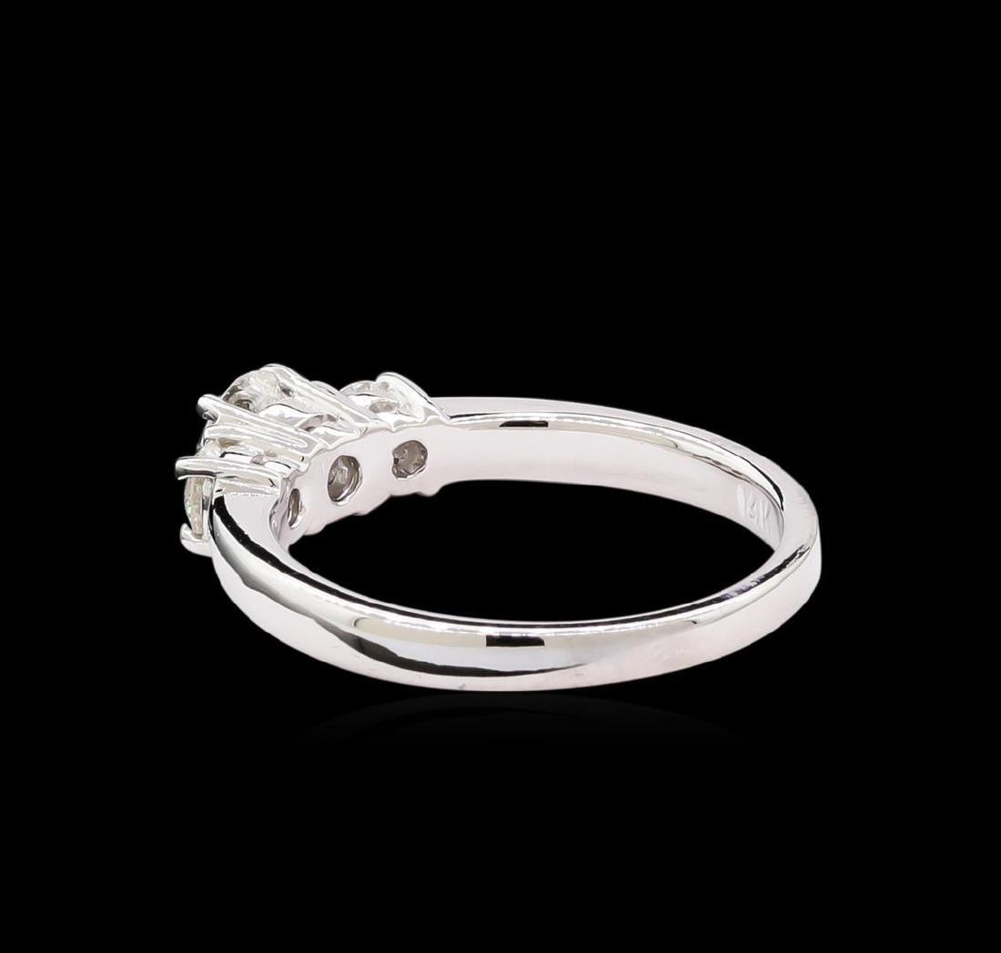 0.74 ctw Diamond Ring - 14KT White Gold - 3
