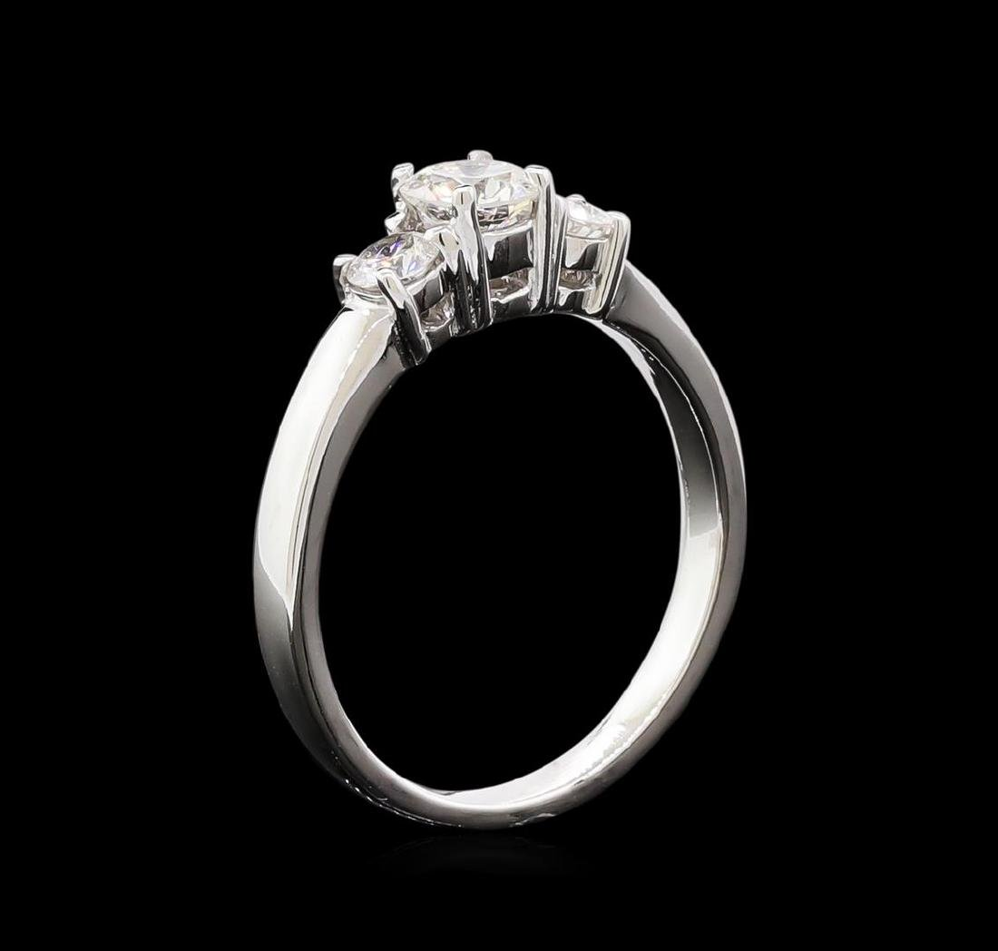 0.74 ctw Diamond Ring - 14KT White Gold - 4