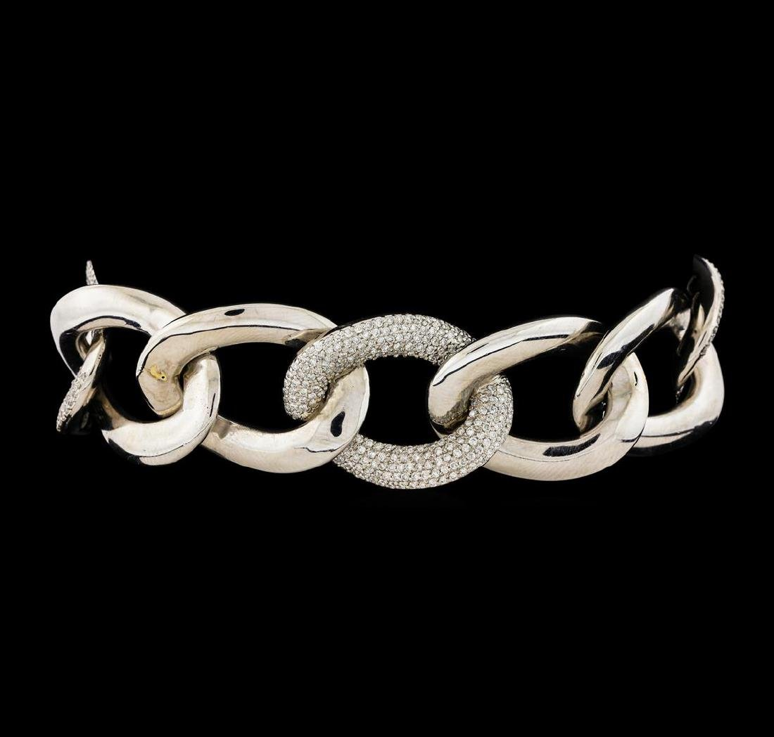 3.54 ctw Diamond Bracelet - 14KT White Gold
