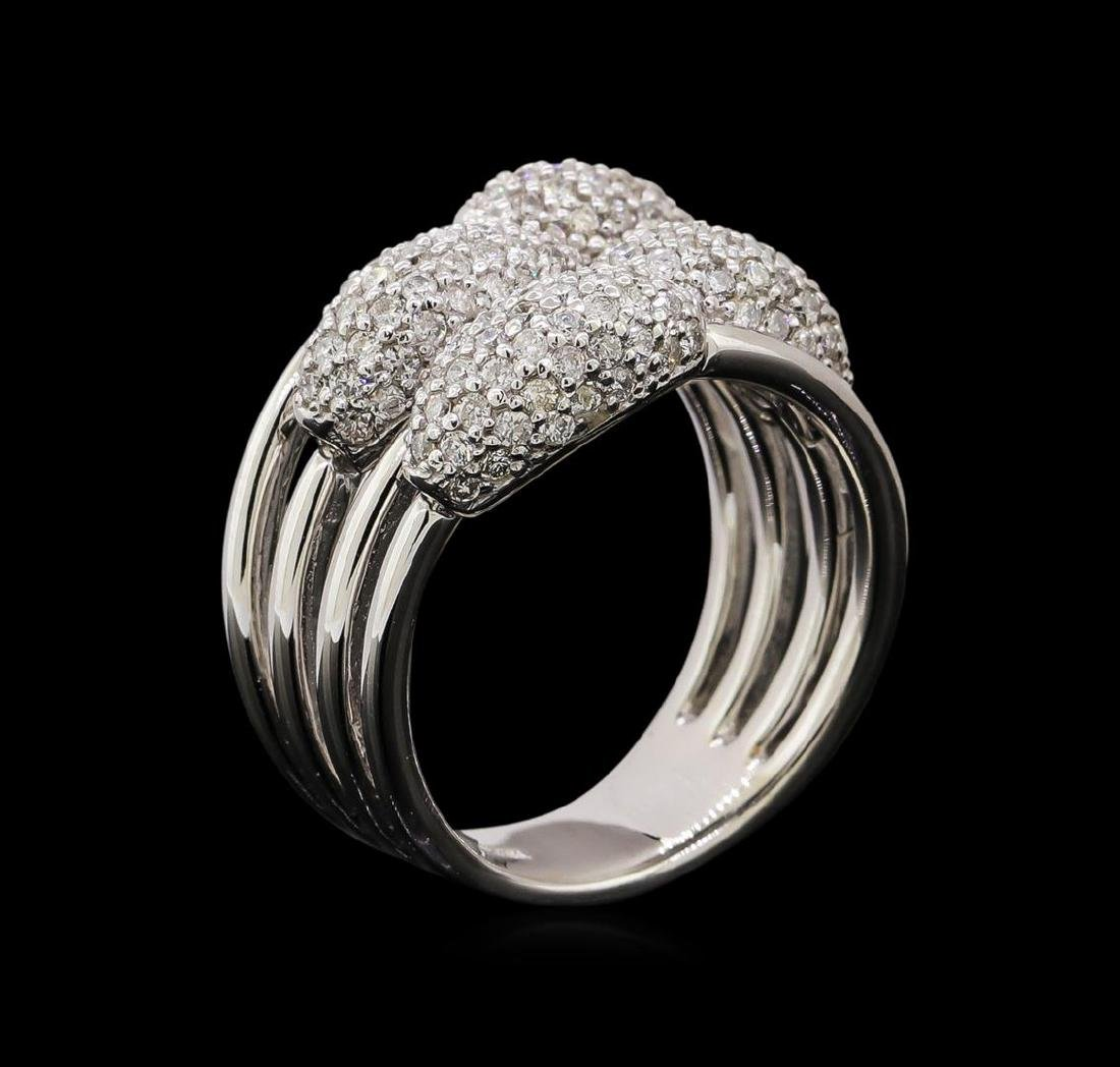 14KT White Gold 0.59 ctw Diamond Ring - 4