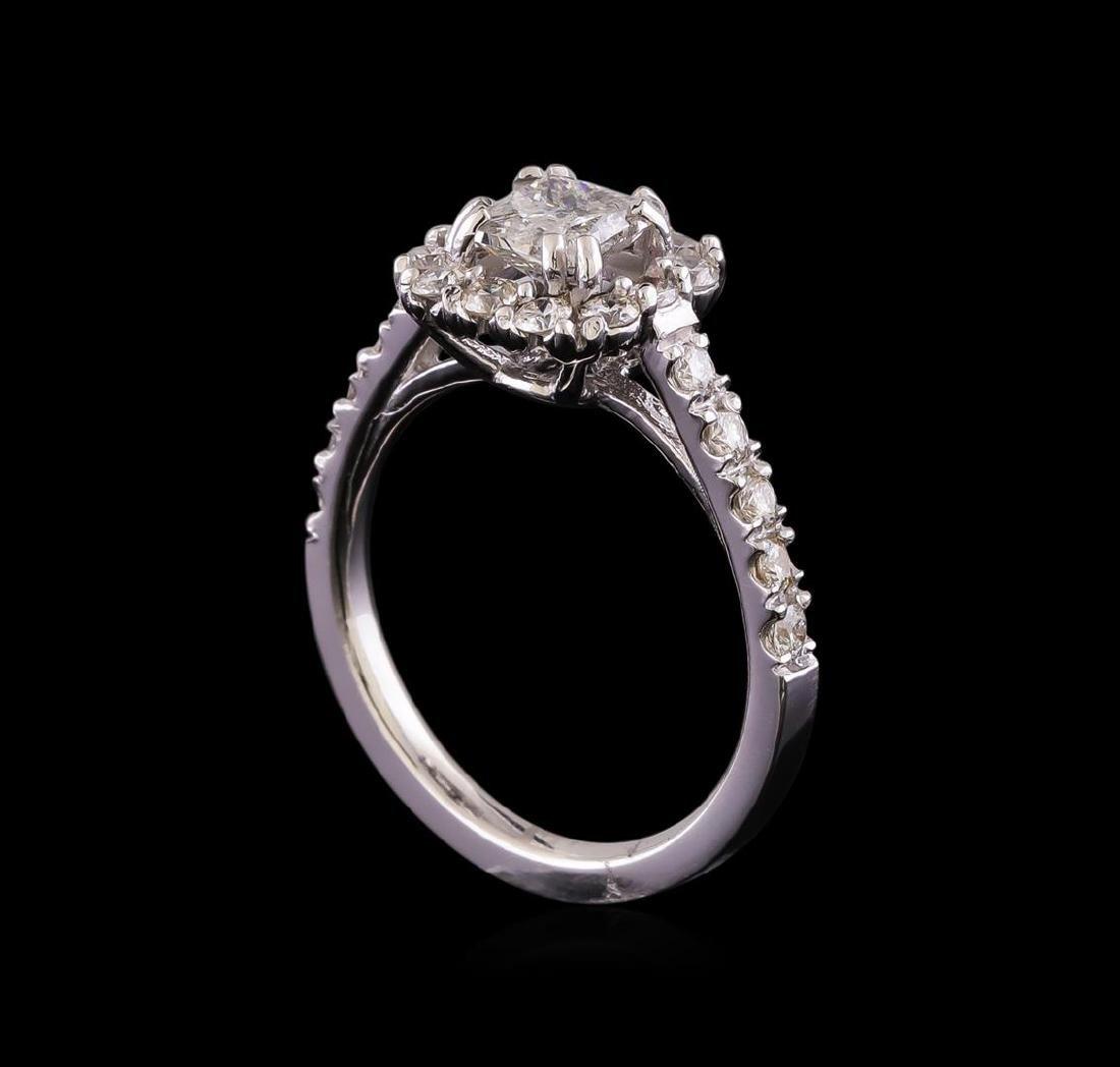 1.43 ctw Diamond Ring - 14KT White Gold - 4