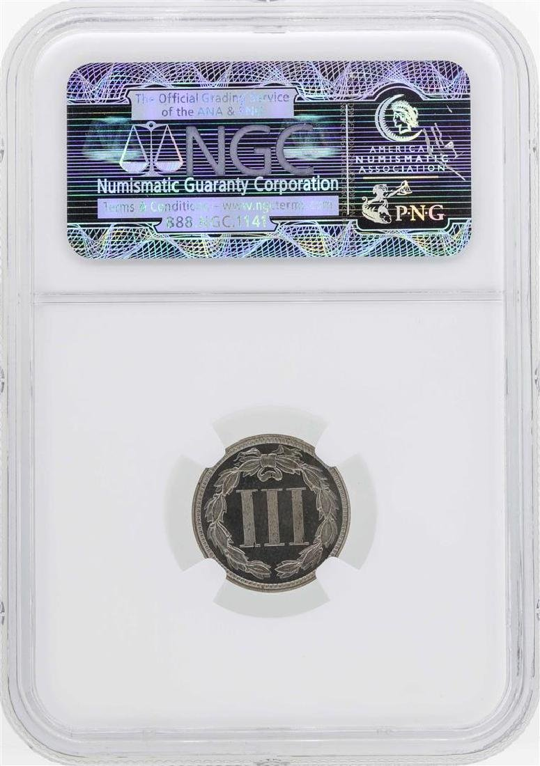 1879 Three Cent Nickel Proof Coin NGC PF64 - 2