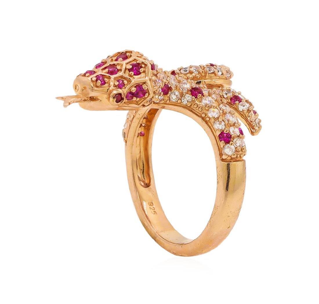 Sterling Silver Snake Ring - 4