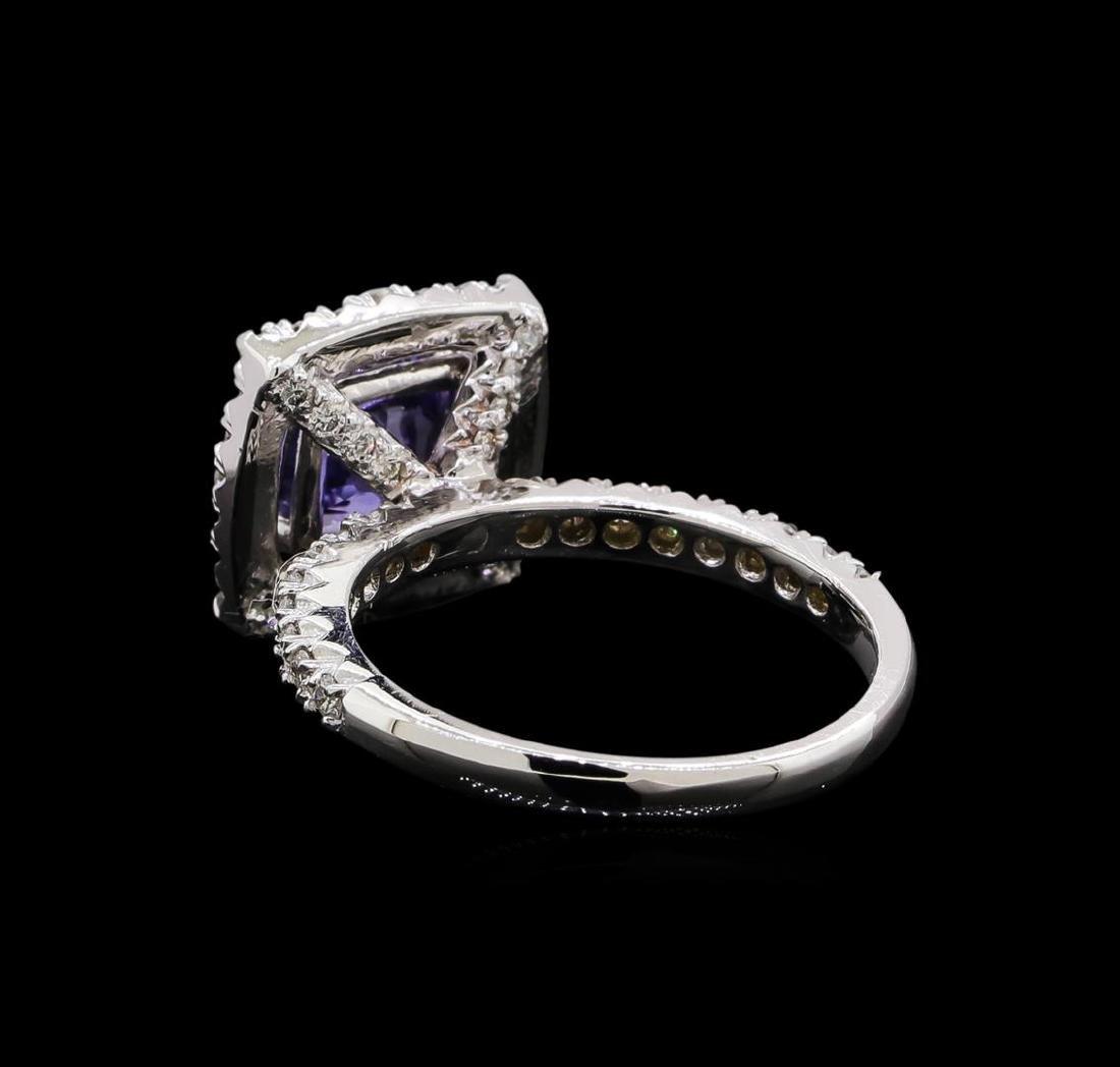 14KT White Gold 2.43 ctw Tanzanite and Diamond Ring - 3