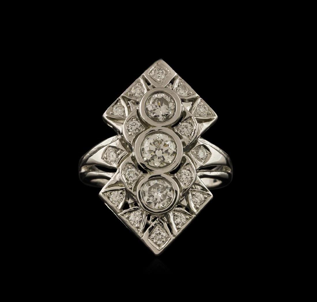 1.47 ctw Diamond Ring - 14KT White Gold - 2