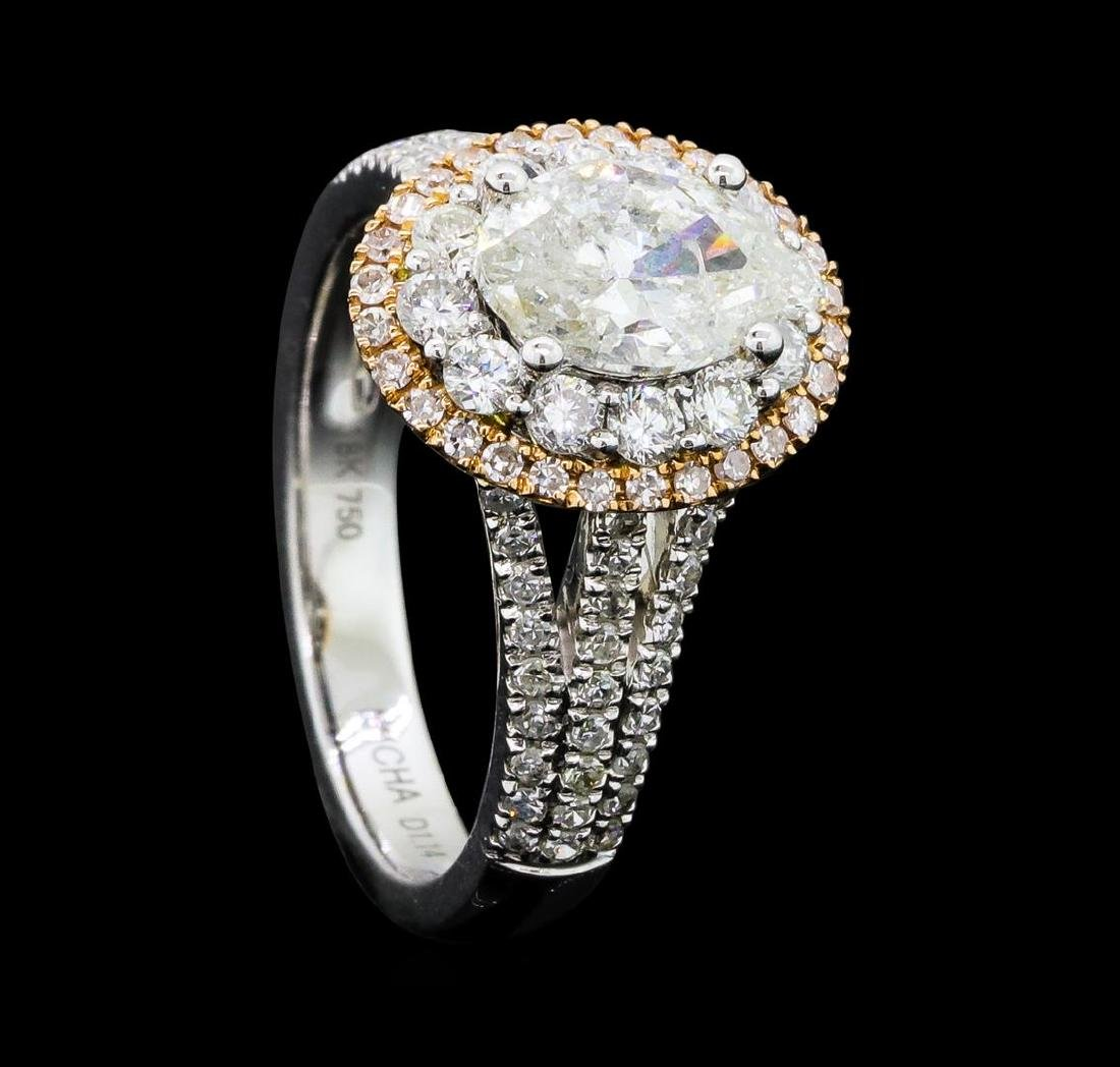 1.54 ctw Diamond Ring - 18KT White And Yellow Gold - 4