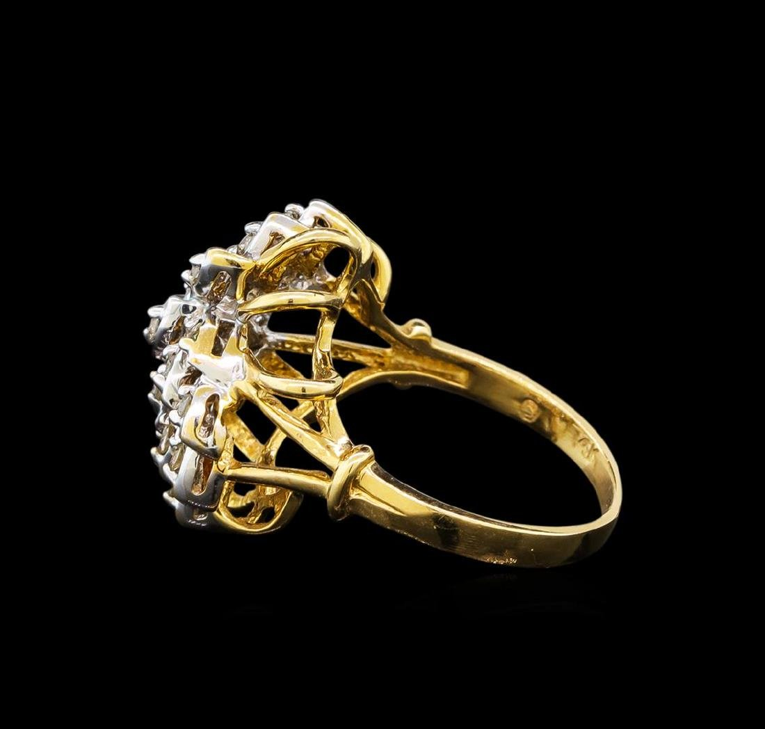 0.27 ctw Diamond Ring - 14KT Yellow and White Gold - 3