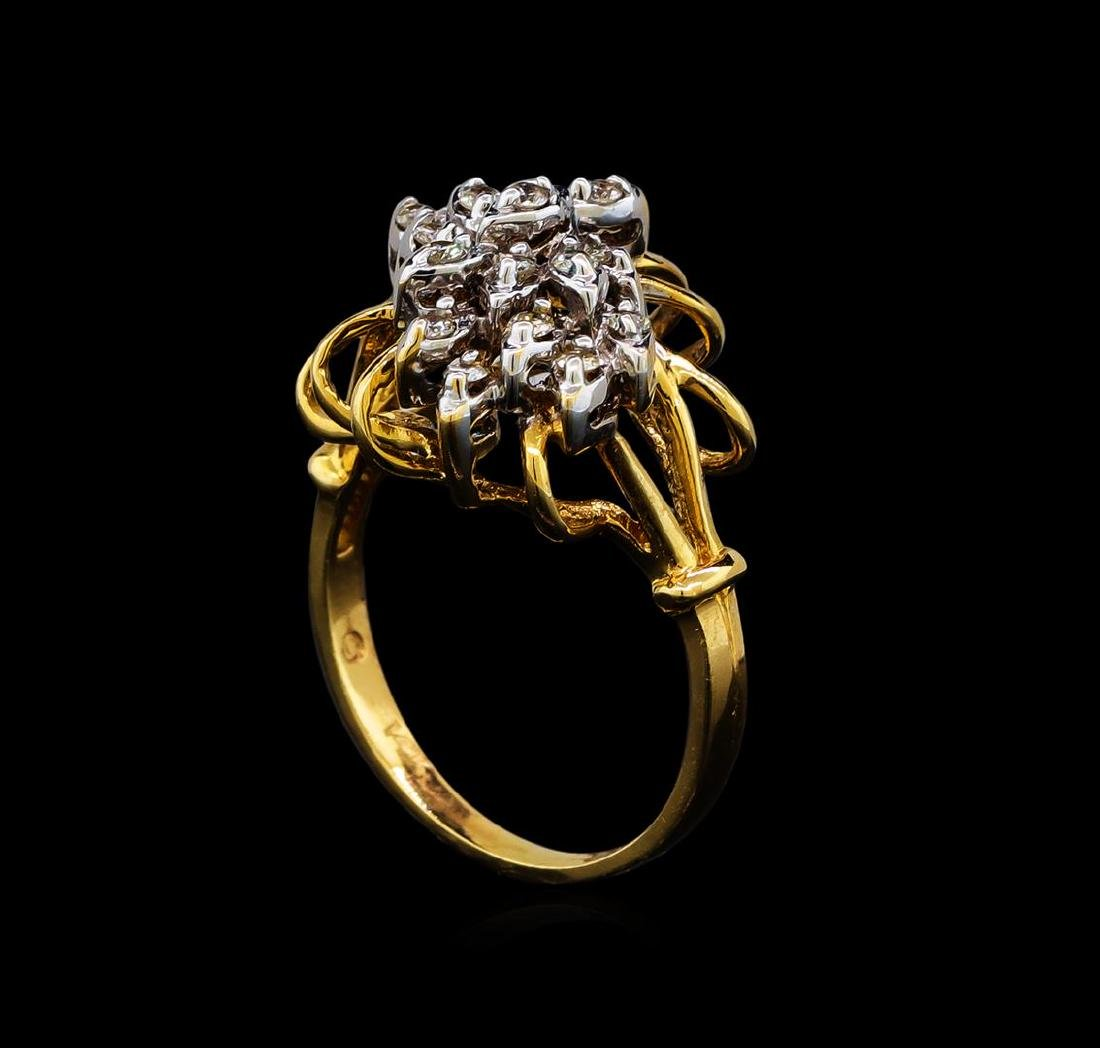 0.27 ctw Diamond Ring - 14KT Yellow and White Gold - 4