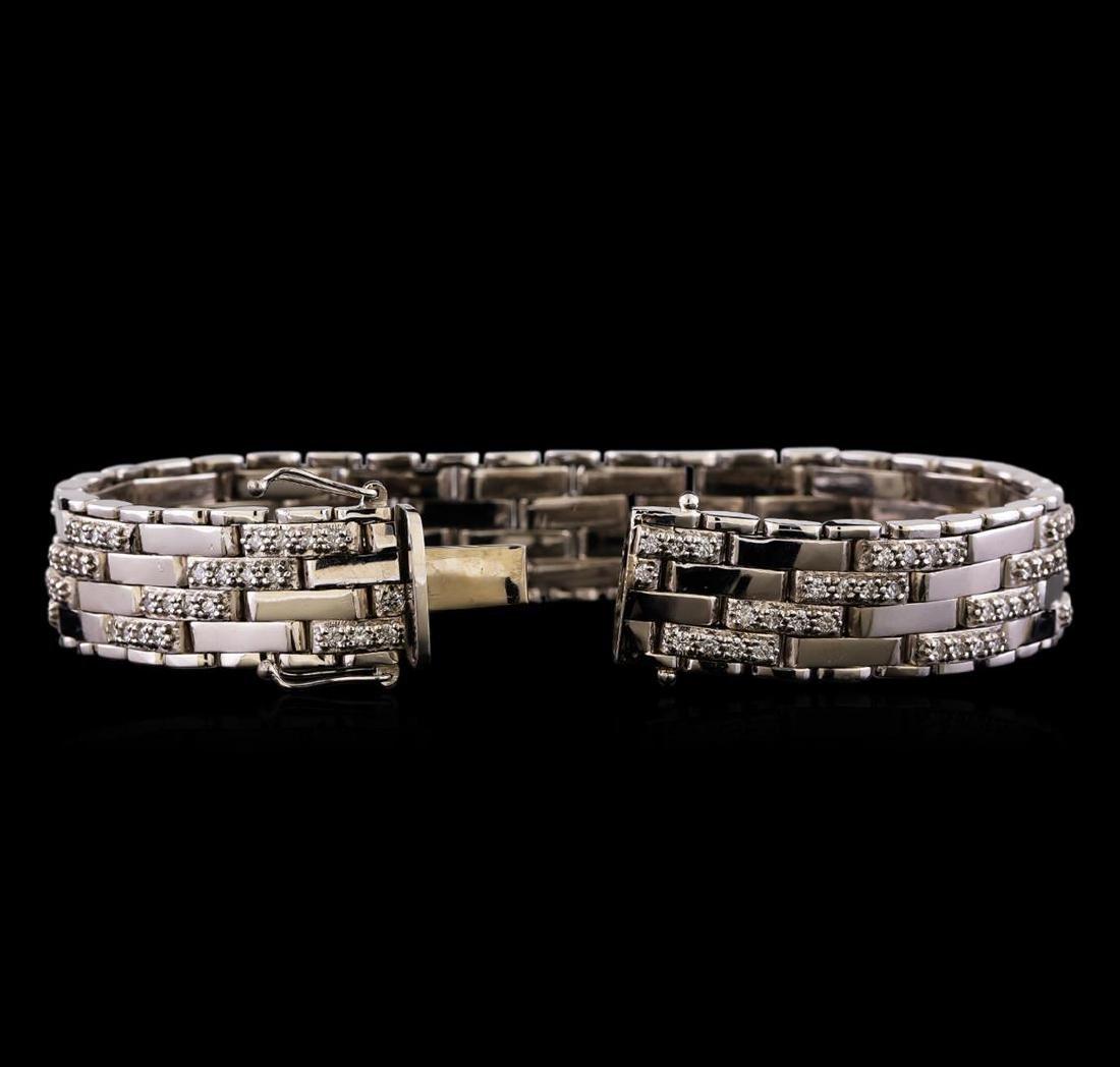 3.52 ctw Diamond Bracelet - 14KT White Gold - 3
