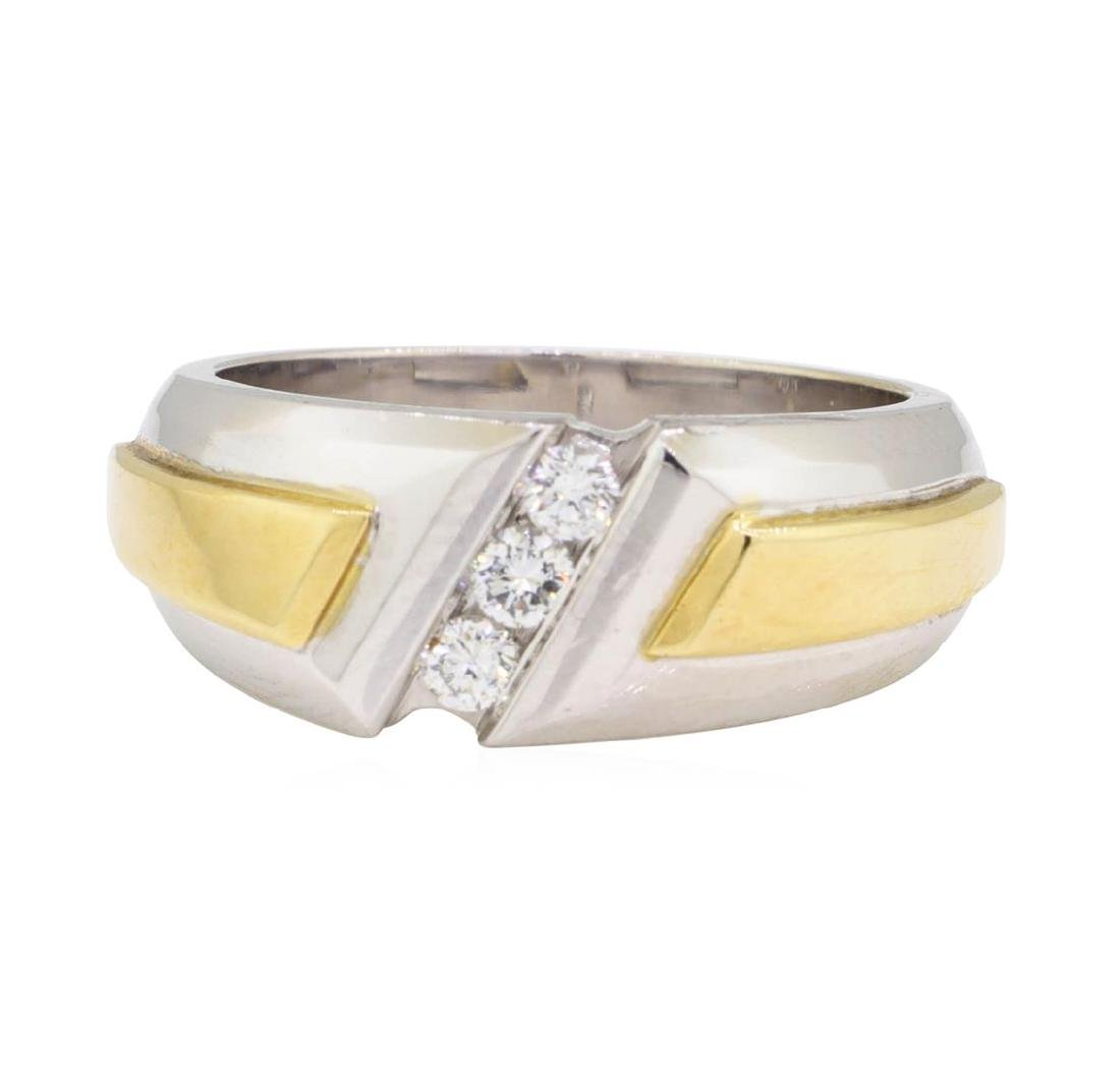 0.26 ctw Diamond Ring - 14KT Yellow and White Gold - 2