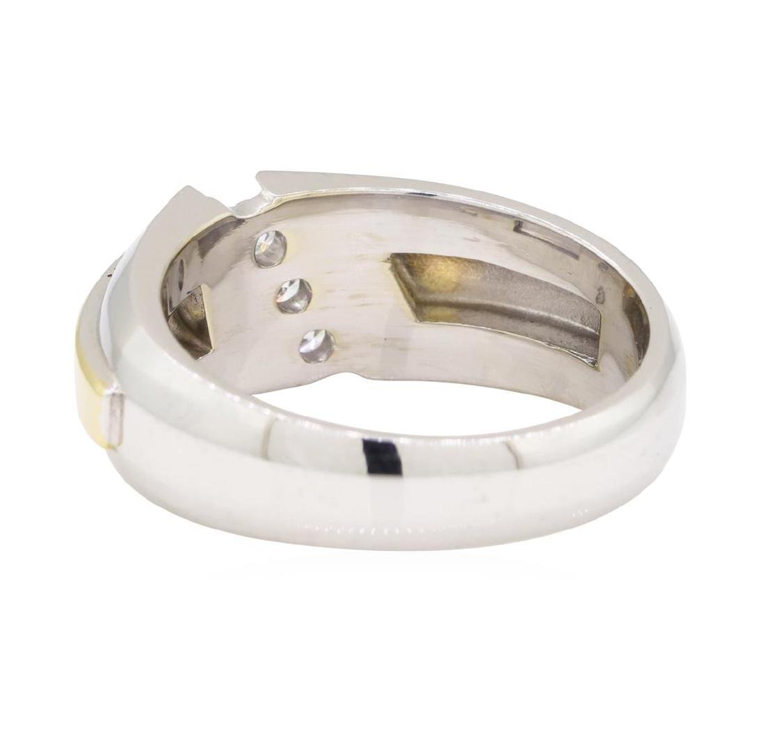 0.26 ctw Diamond Ring - 14KT Yellow and White Gold - 3