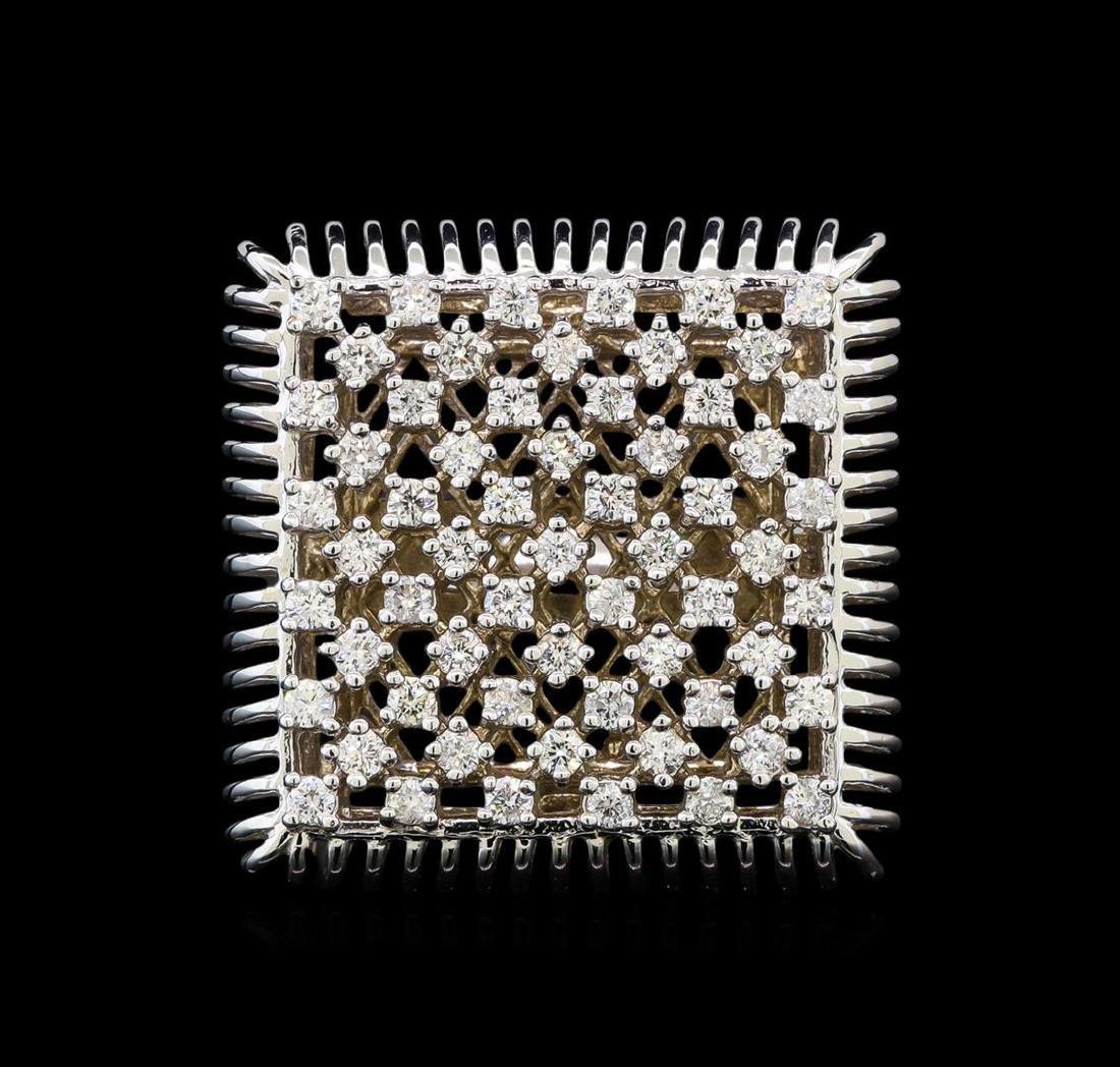 14KT White Gold 0.49 ctw Diamond Ring - 2