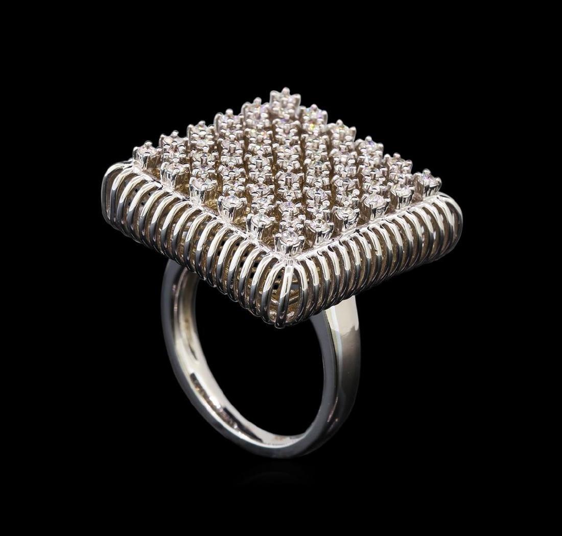 14KT White Gold 0.49 ctw Diamond Ring - 4