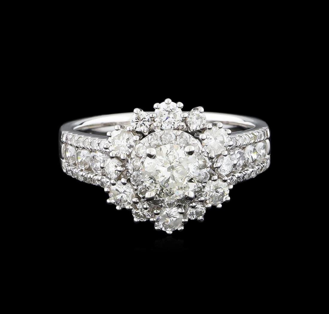 14KT White Gold 1.89 ctw Diamond Ring - 2