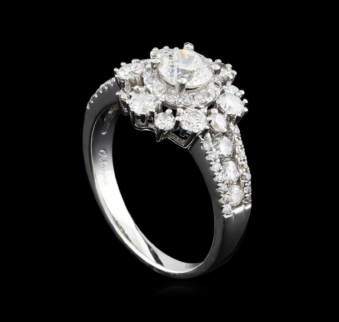 14KT White Gold 1.89 ctw Diamond Ring - 4