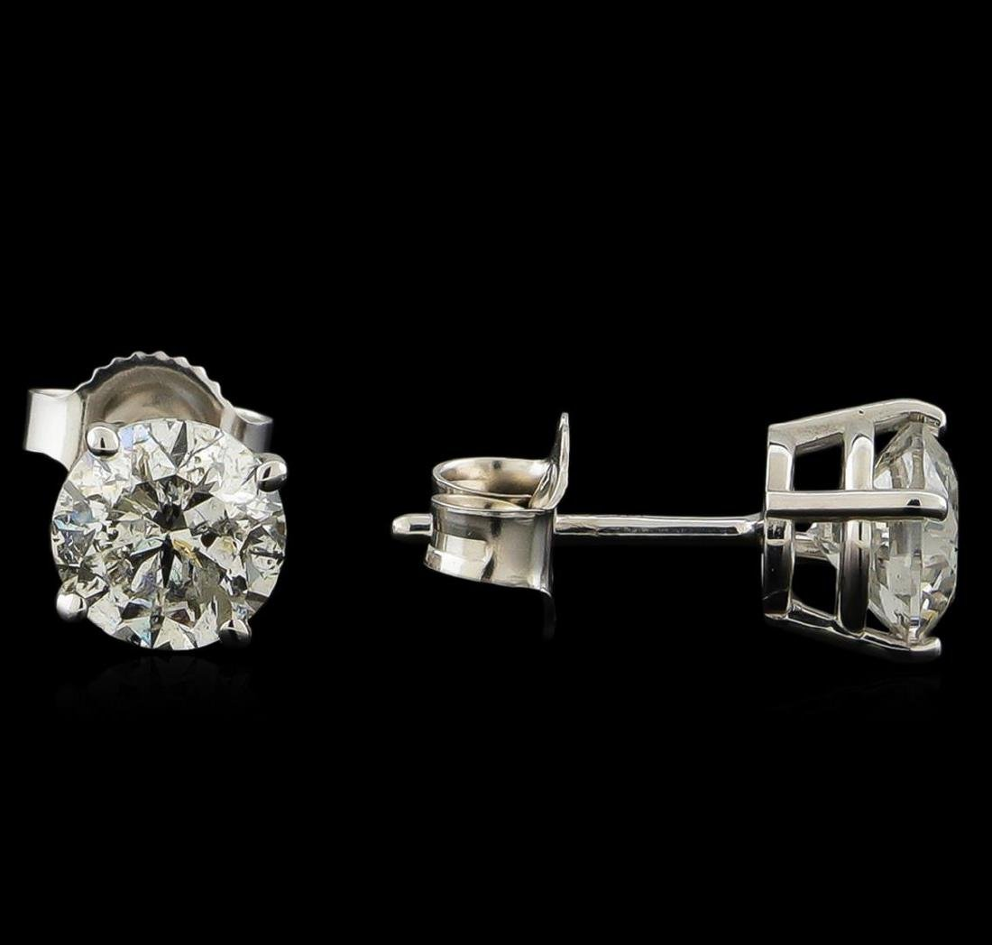 1.43 ctw Diamond Solitaire Earrings - 14KT White Gold - 2